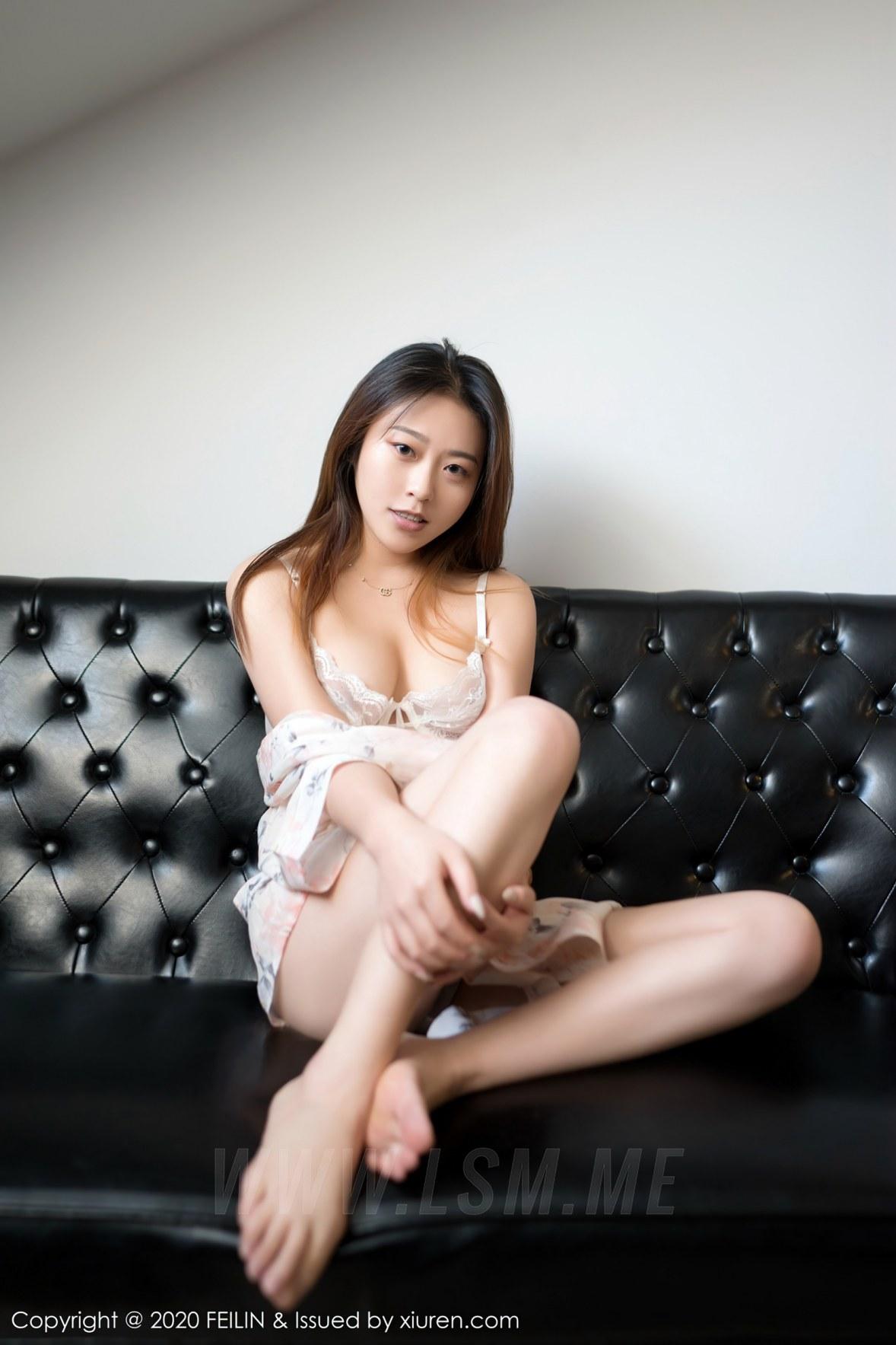 FeiLin 嗲囡囡 Vol.362 沐夕 首套模特 纯天然素颜美女 - 1