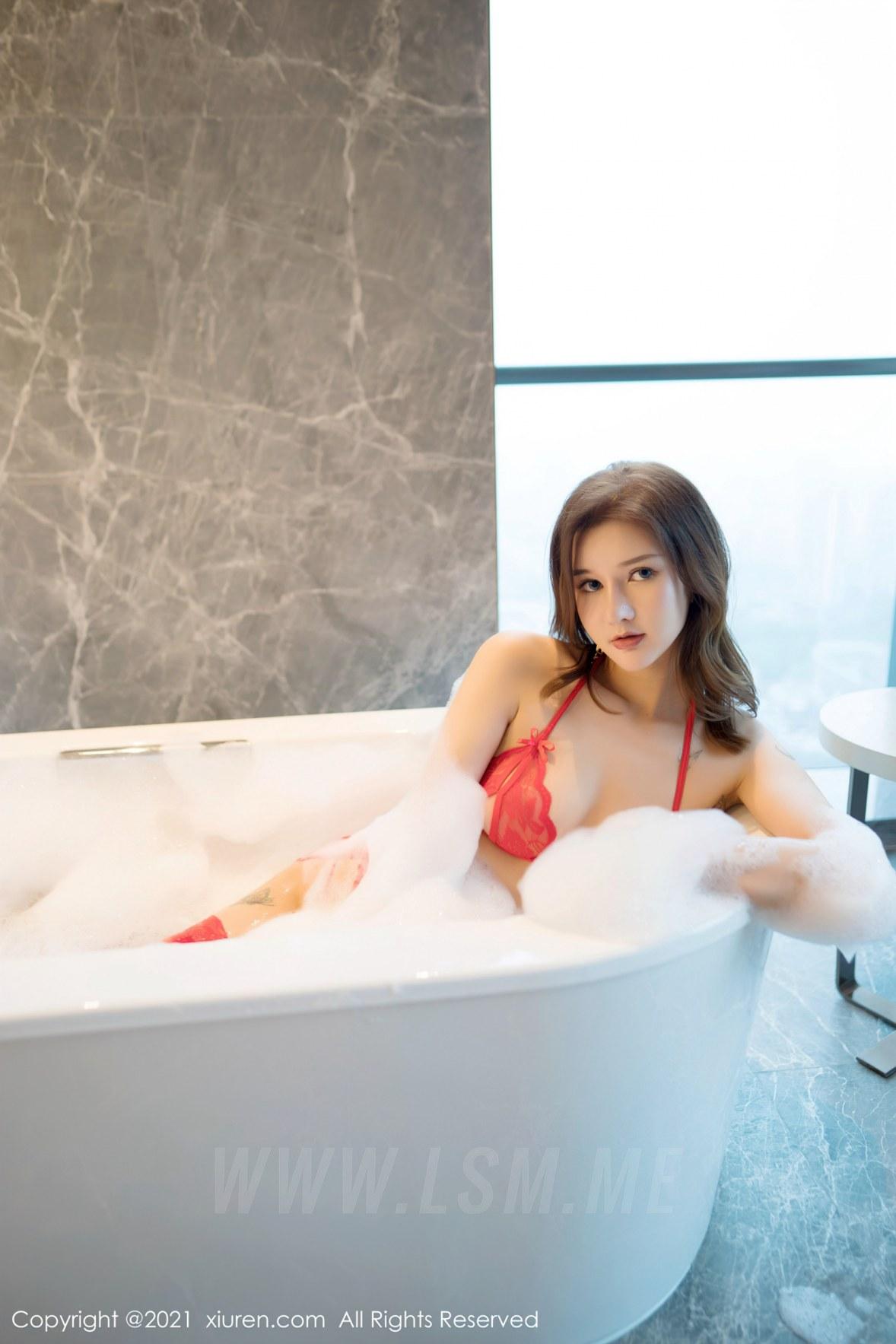 403 030 pxj 3600 5400 - FeiLin 嗲囡囡 Vol.403 浴室泡泡浴 文芮jeninfer 性感写真 - 嗲囡囡 -【免费在线写真】【丽人丝语】