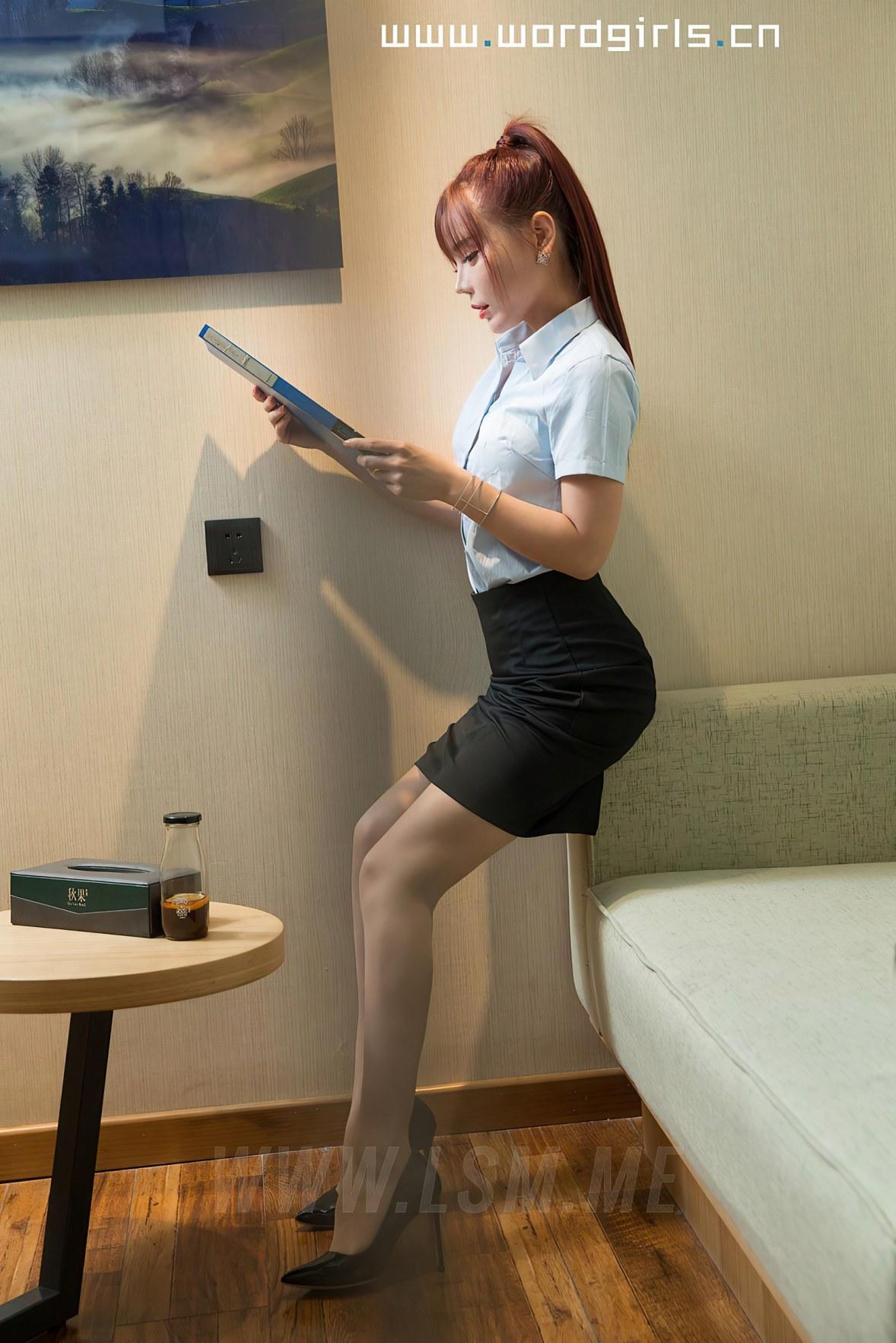 Goddes 头条女神 No.S047 茶水间的OL女士VIP版艾小青 - 3