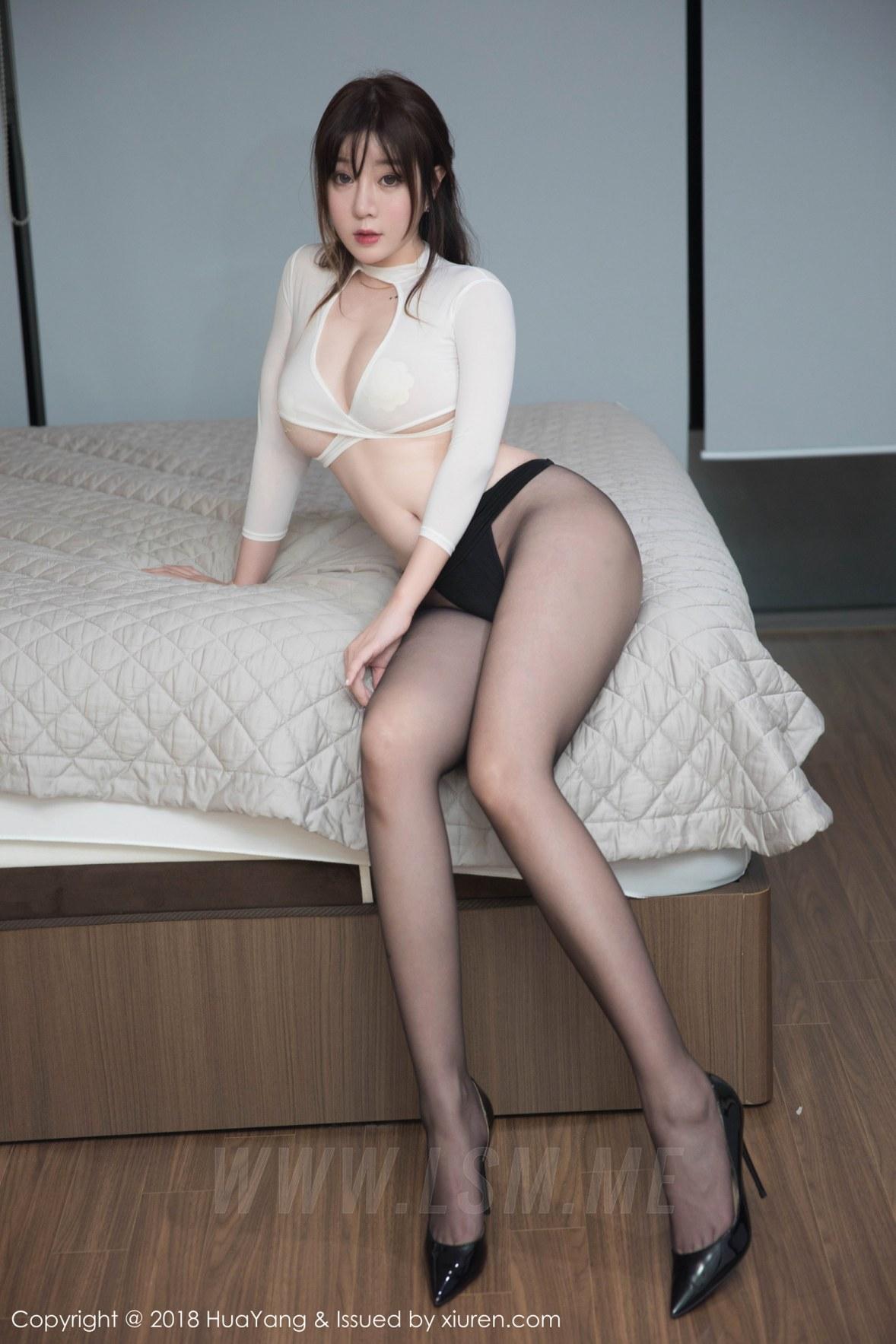 HuaYang 花漾show Vol.081 王雨纯黑丝翘臀 - 4
