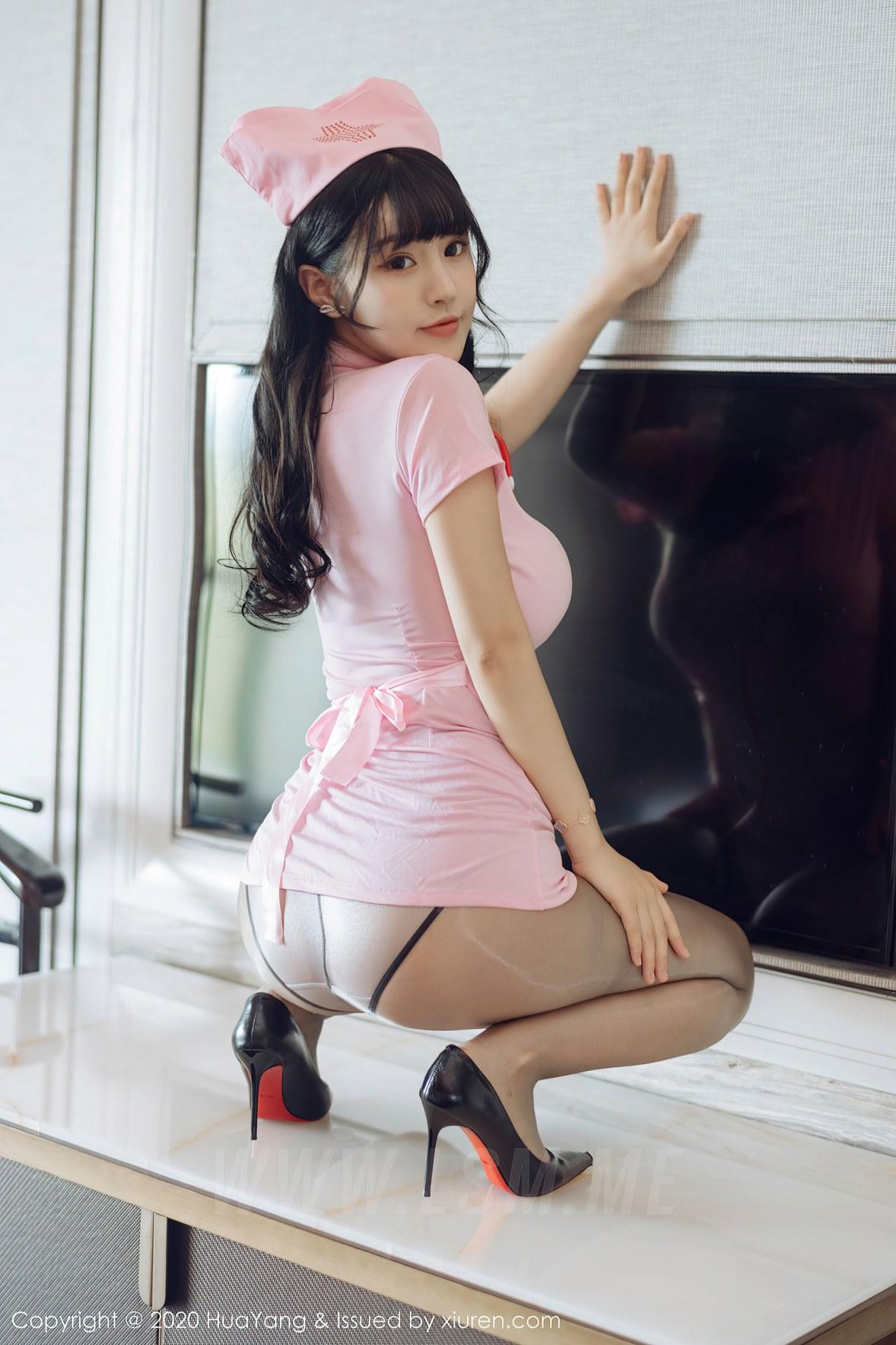 HuaYang 花漾show Vol.302 诱惑护士 朱可儿 童颜巨乳 - 4