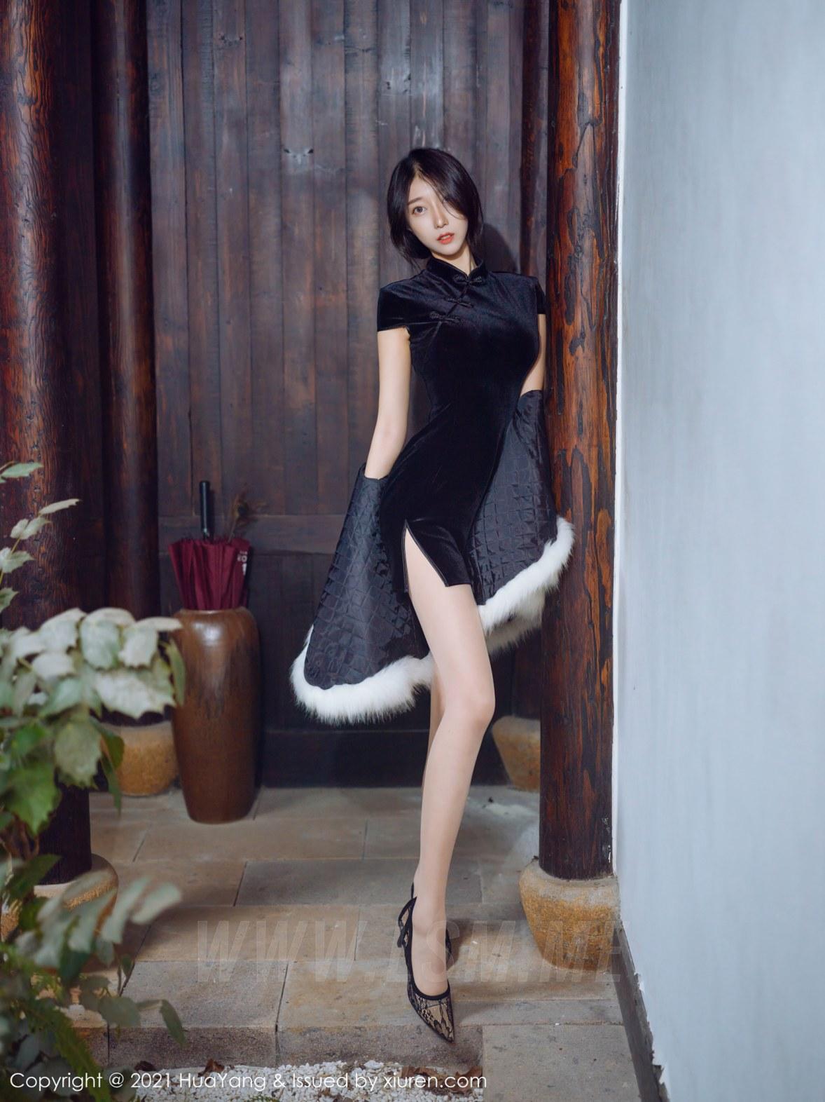 HuaYang 花漾show Vol.353 典雅韵味旗袍  玥儿玥er  杭州旅拍 - 3