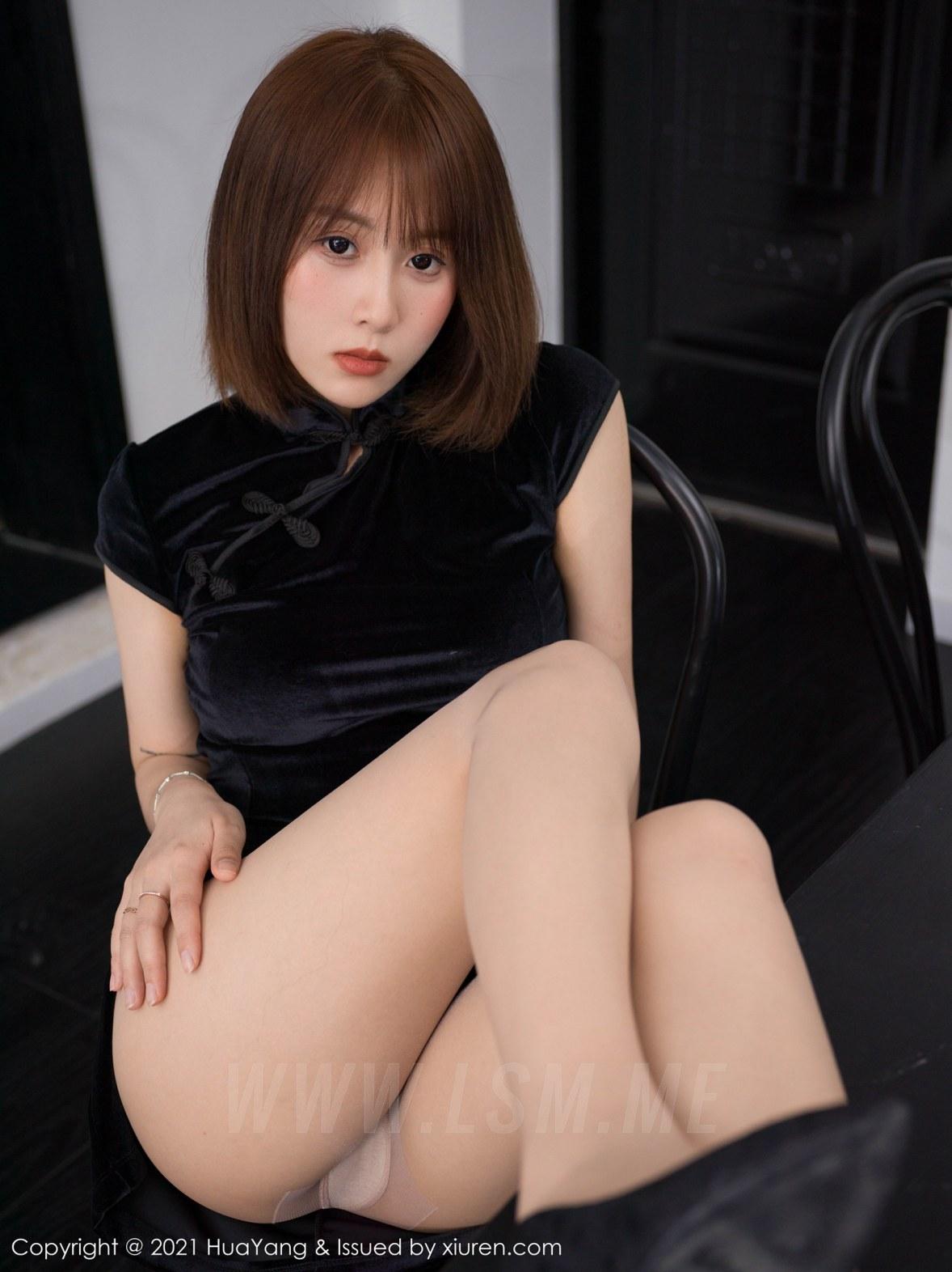 HuaYang 花漾show Vol.428 新人模特 恬恬GuTIan 旗袍与魅惑丝袜第... - 4