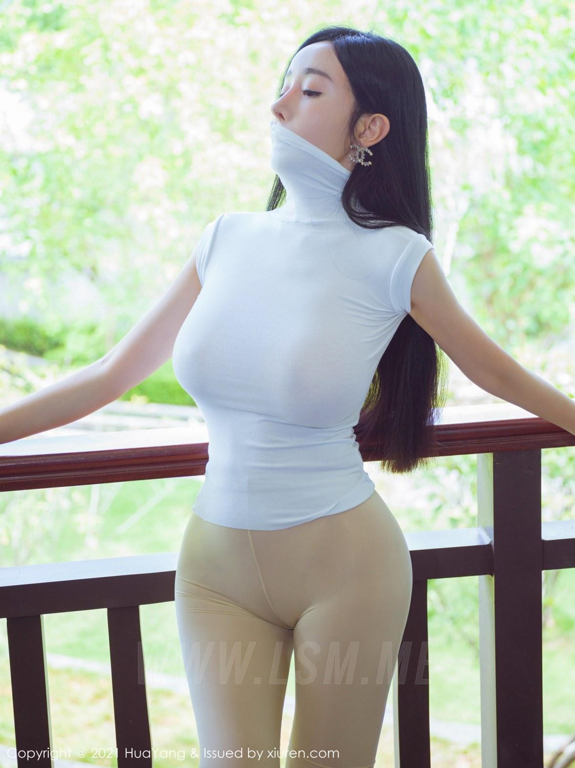 HuaYang 花漾show Vol.440 真空瑜伽 允爾 阳朔旅拍11 - 2