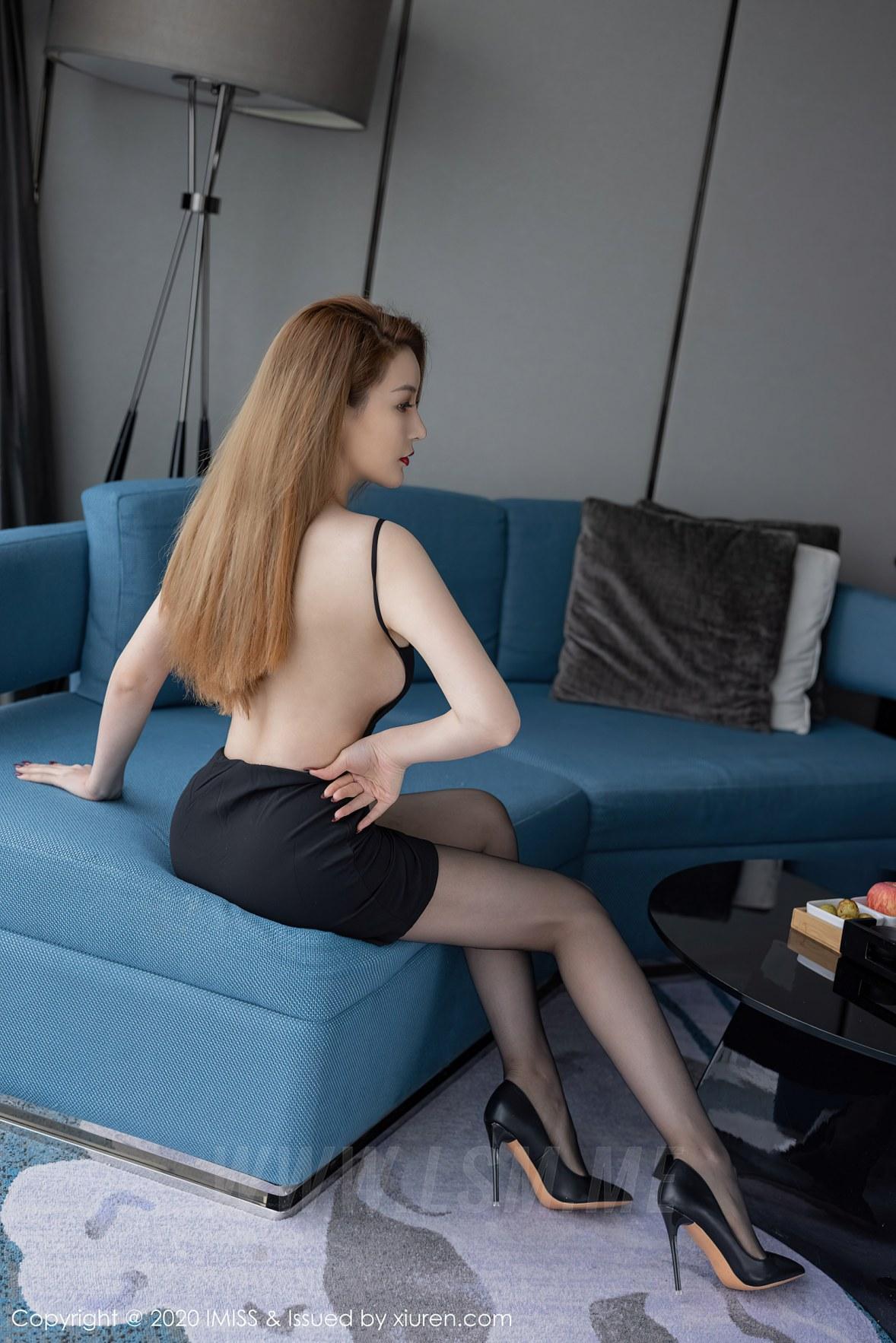 IMiss 爱蜜社 Vol.536 黑丝吊裙玉背 jermy - 4