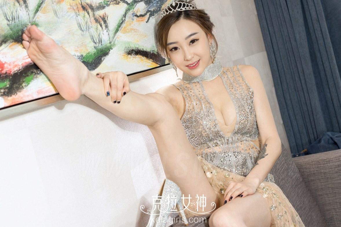 KeLa 克拉女神 No.056 Modo 张茜水晶鞋里的玉足 - 2