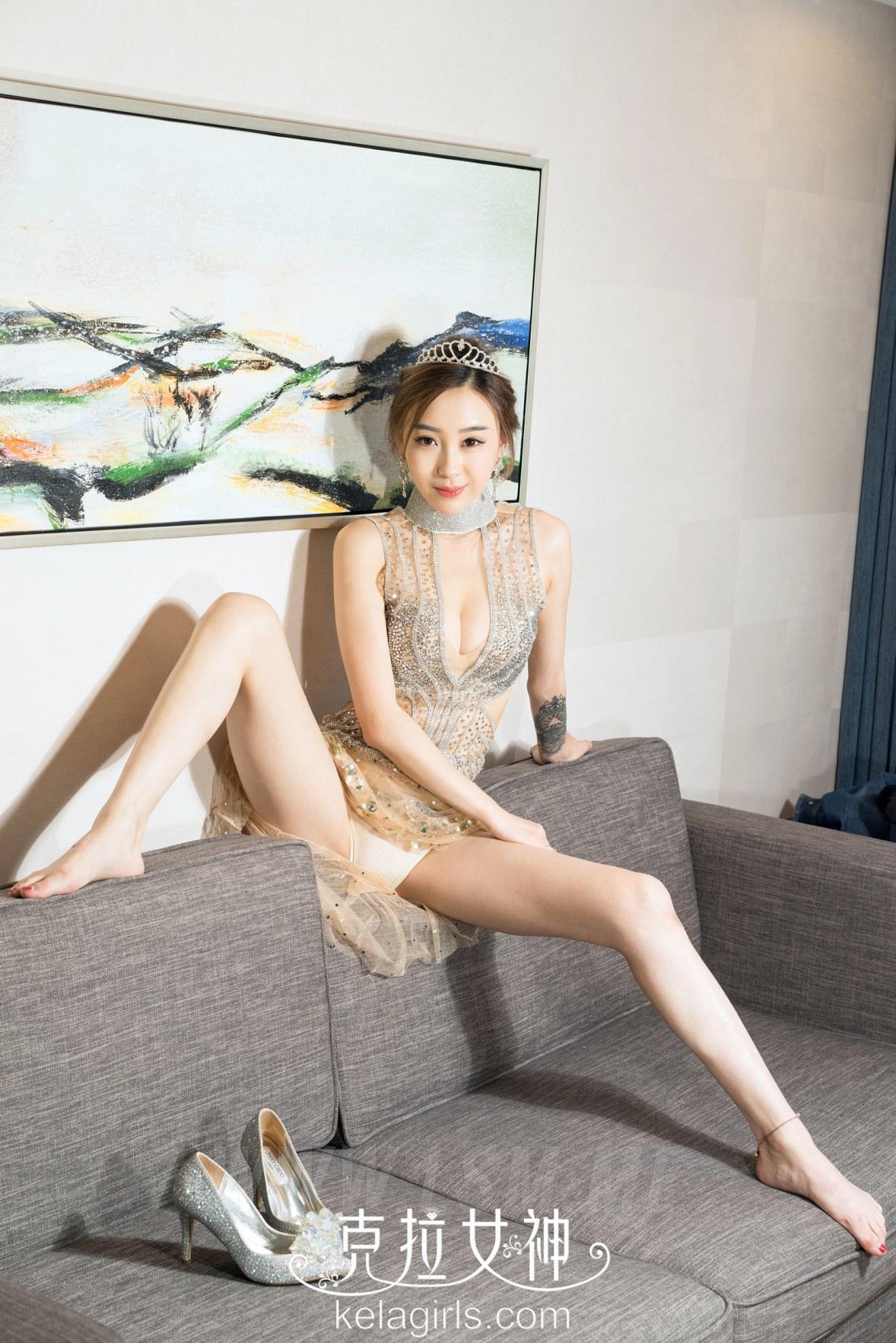 KeLa 克拉女神 No.056 Modo 张茜水晶鞋里的玉足 - 3