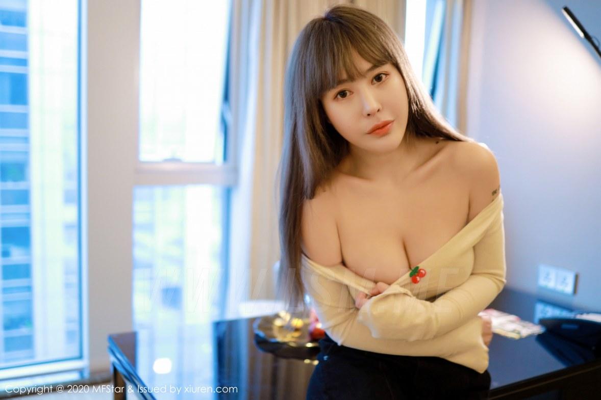 MFStar 模范学院 Vol.284 雪白圆润酥胸  艾莉Evelyn 最新性感写真 - 3