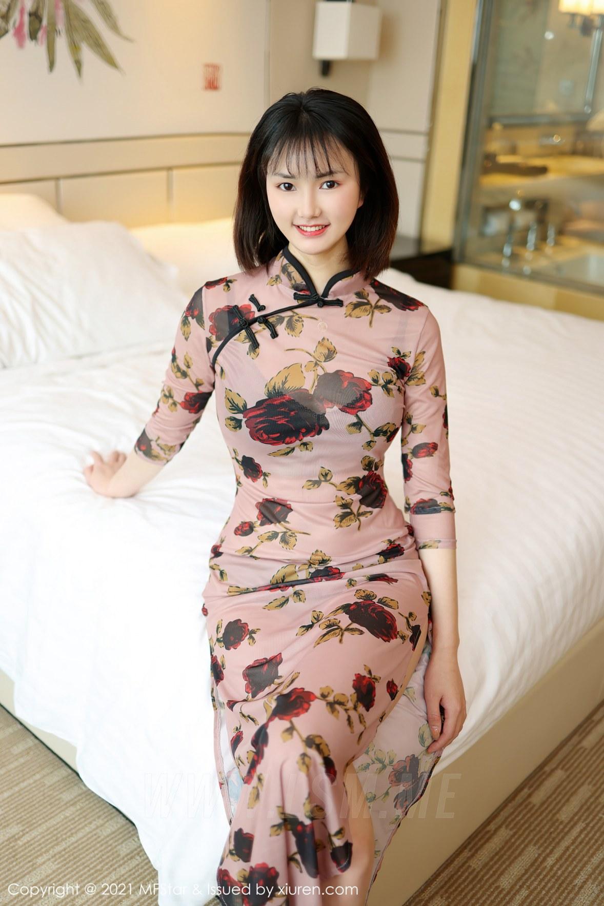 MFStar 模范学院 Vol.483 肉感妹子古典旗袍  墨韩 新人模特... - 4