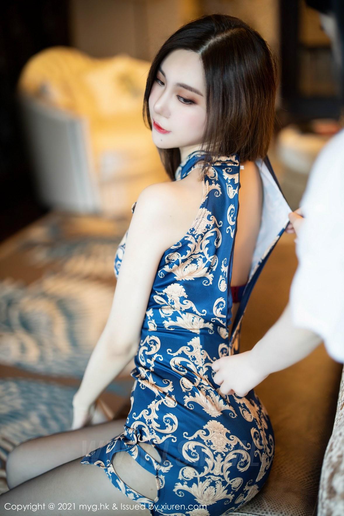 MyGirl 美媛馆 Vol.528 古典韵味浪漫旗袍 绮里嘉Carina 性感写真 - 3