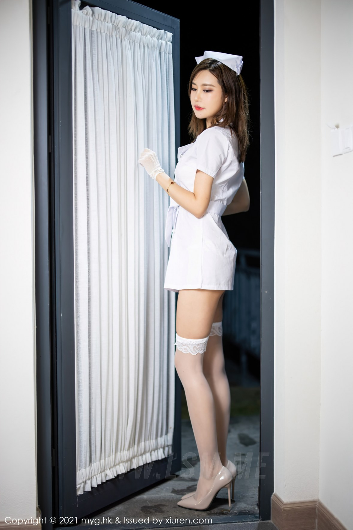 MyGirl 美媛馆 Vol.578 护士制服主题 绮里嘉Carina 杭州旅拍111 - 4