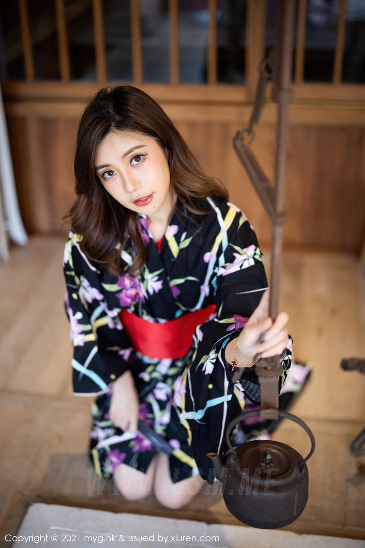 MyGirl 美媛馆 Vol.594 红绳缠绕和服 绮里嘉Carina 长三角旅拍 - 4