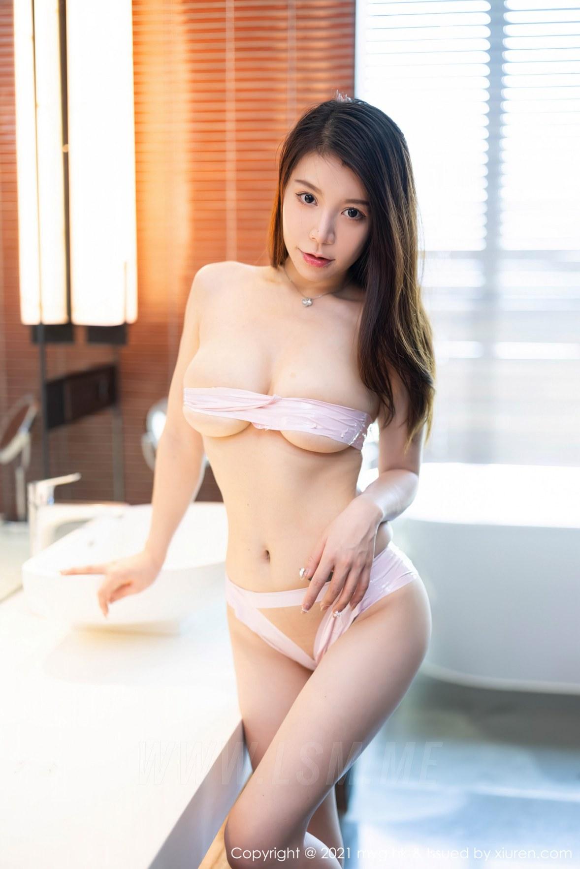 MyGirl 美媛馆 Vol.596 丰满姿态 vetiver嘉宝贝儿 性感写真11 - 3