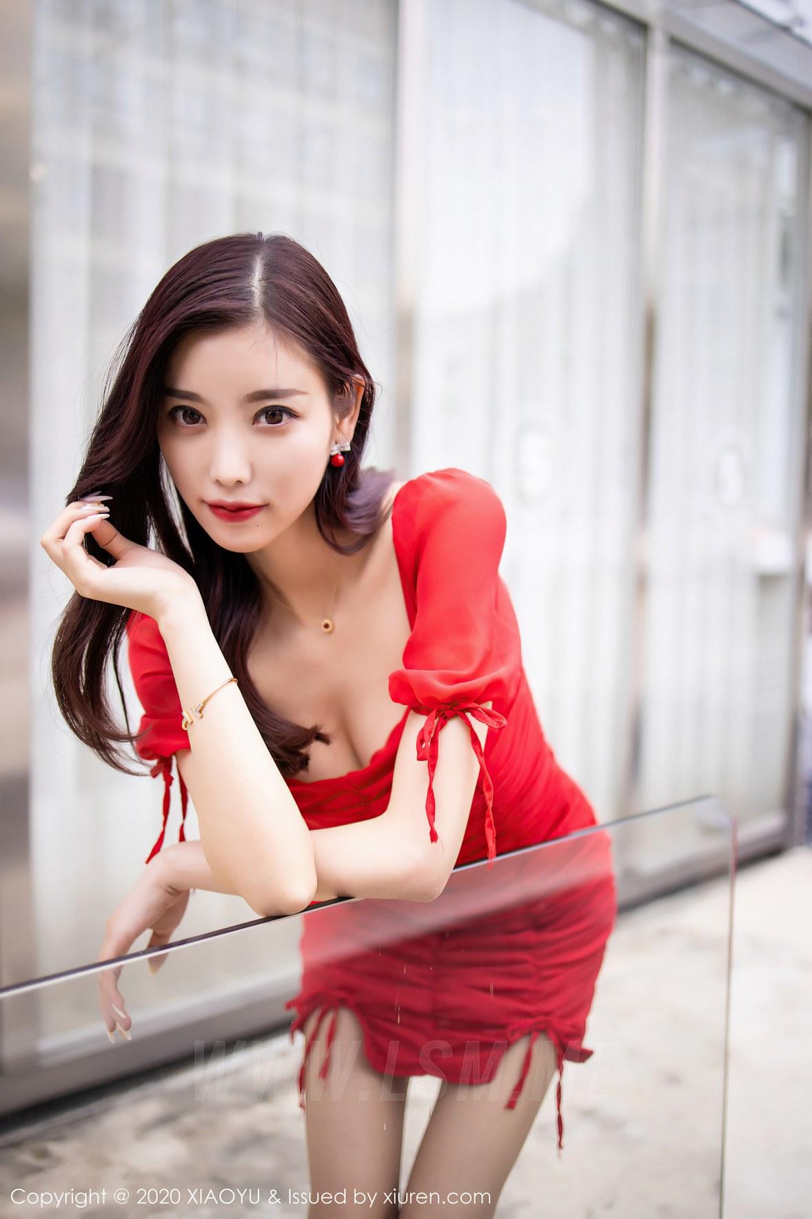 XIAOYU  语画界 Vol.326 杨晨晨 曼妙优雅红裙 - 3