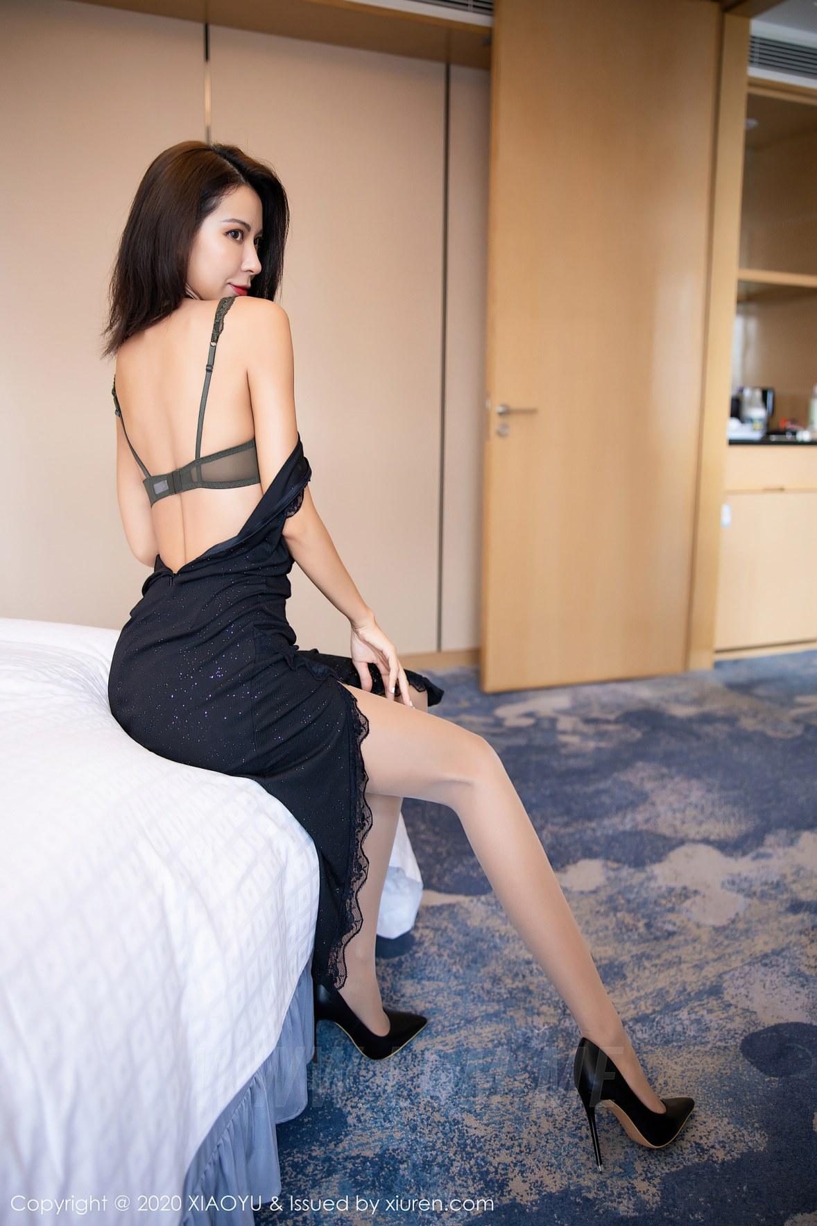 XIAOYU  语画界 Vol.352 黑丝华丽长裙 carry - 3