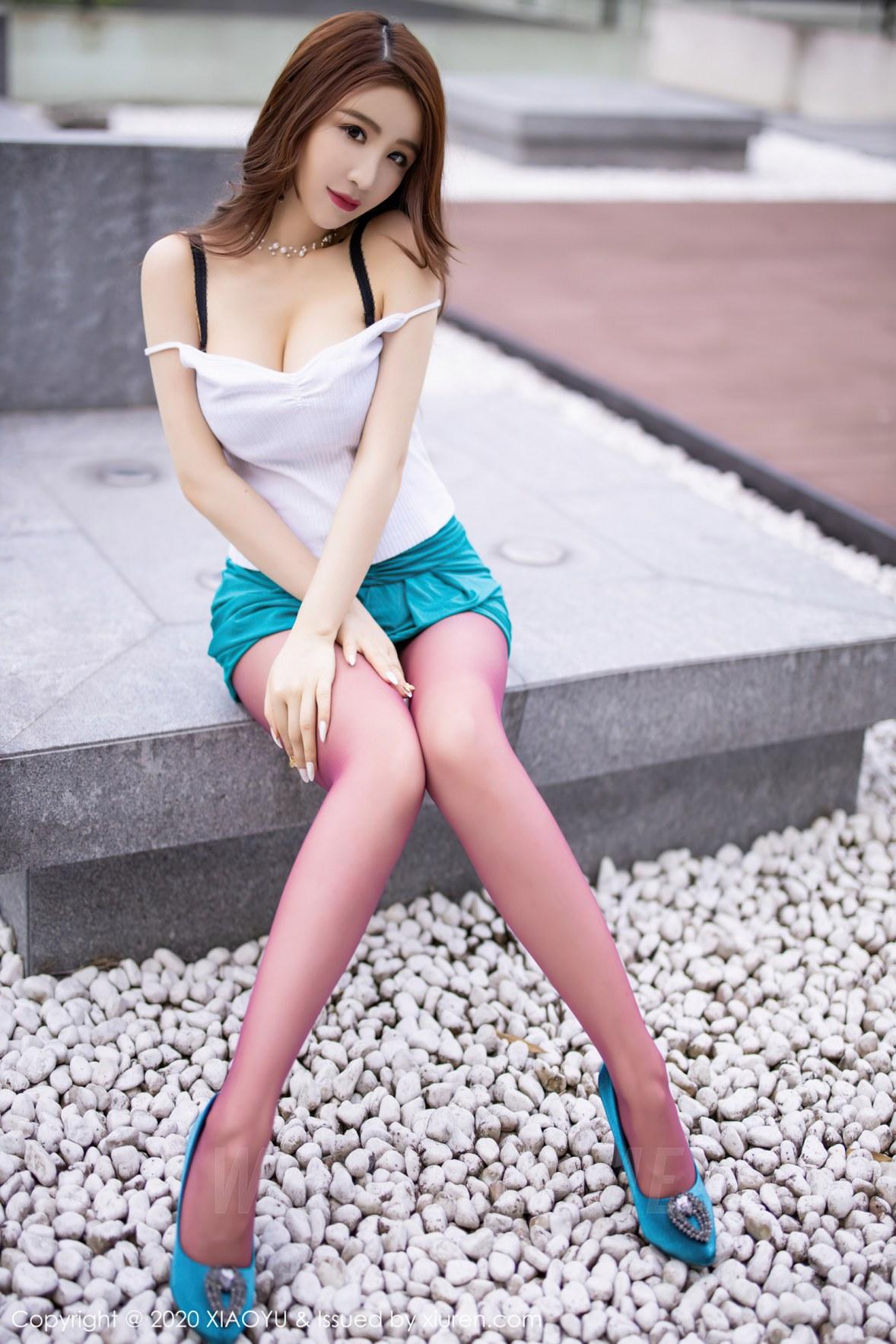 XIAOYU  语画界 Vol.375 cherry绯月樱 紫色雪白酥胸美腿 - 1