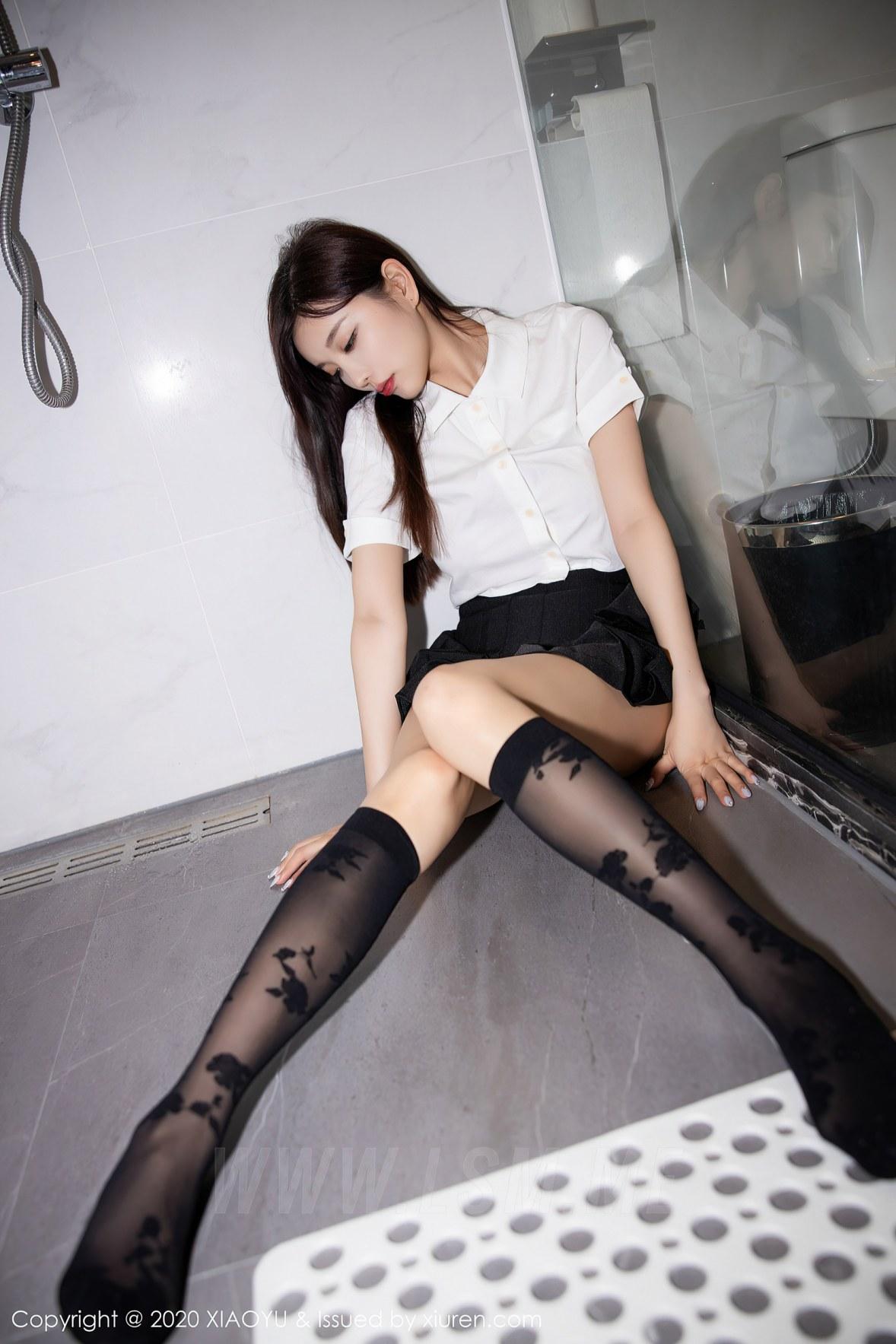 XIAOYU 语画界 Vol.418 jk制服湿身 杨晨晨 清纯可人 - 4