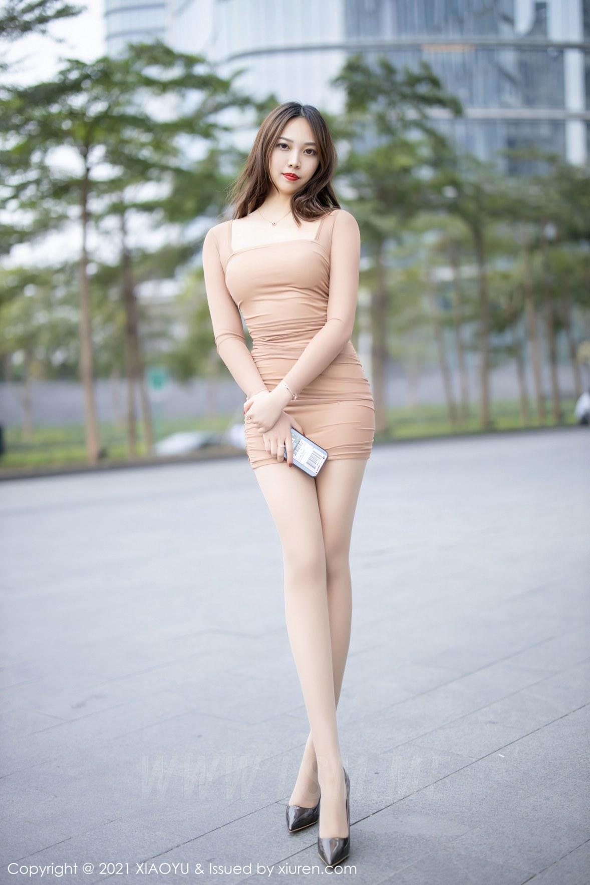 XIAOYU  语画界 Vol.471 郑颖姗 紧身美女肉色丝袜 - 2