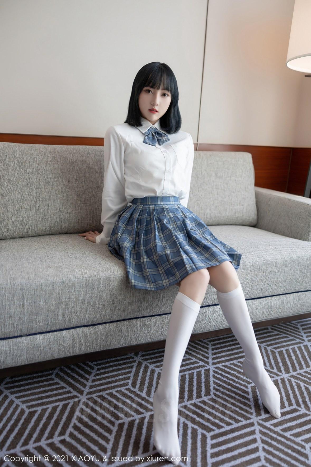 XIAOYU  语画界 Vol.508 JK制服系列 豆瓣酱  新人模特 - 1