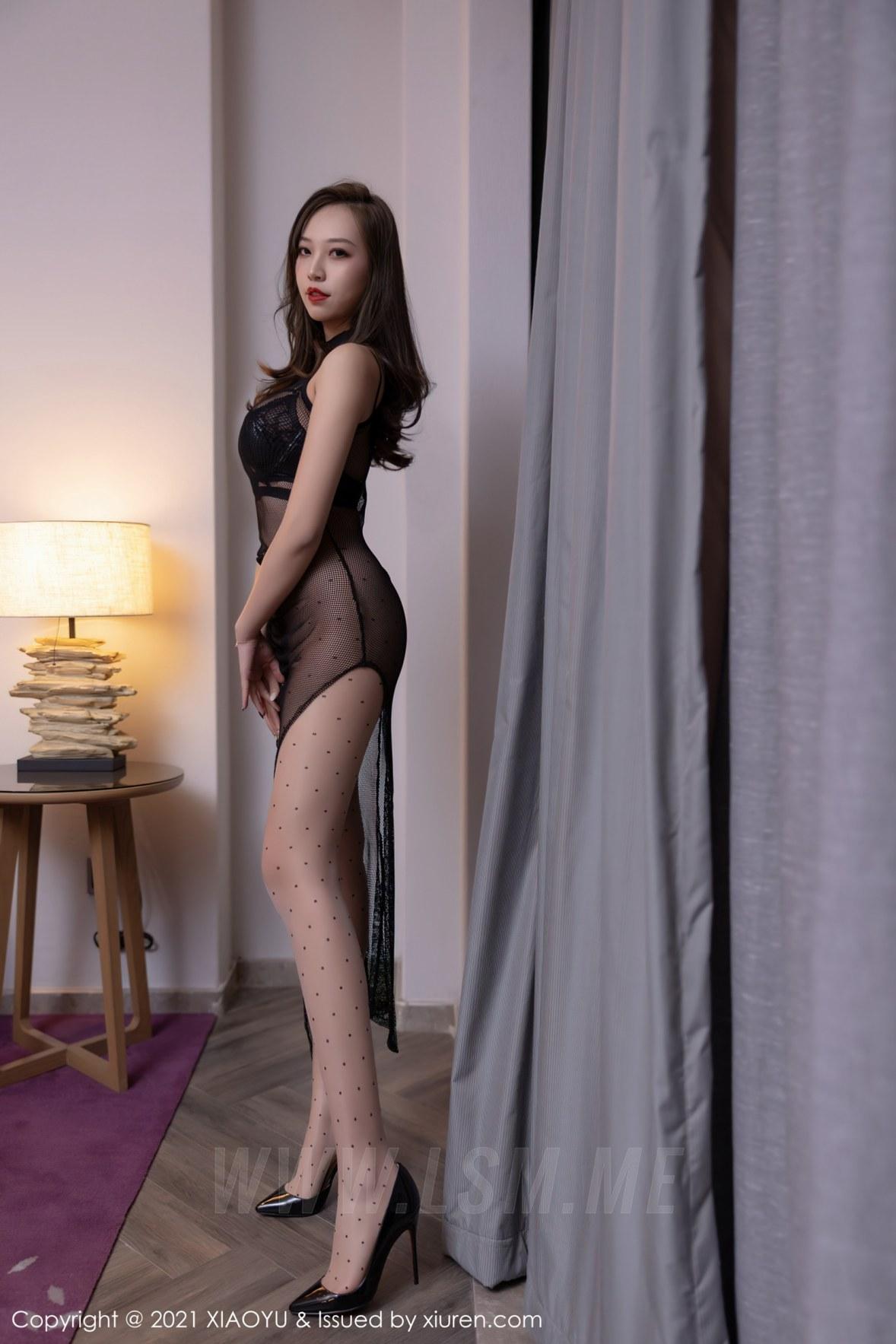 XIAOYU  语画界 Vol.616 郑颖姗bev 皮质内衣长腿 - 1