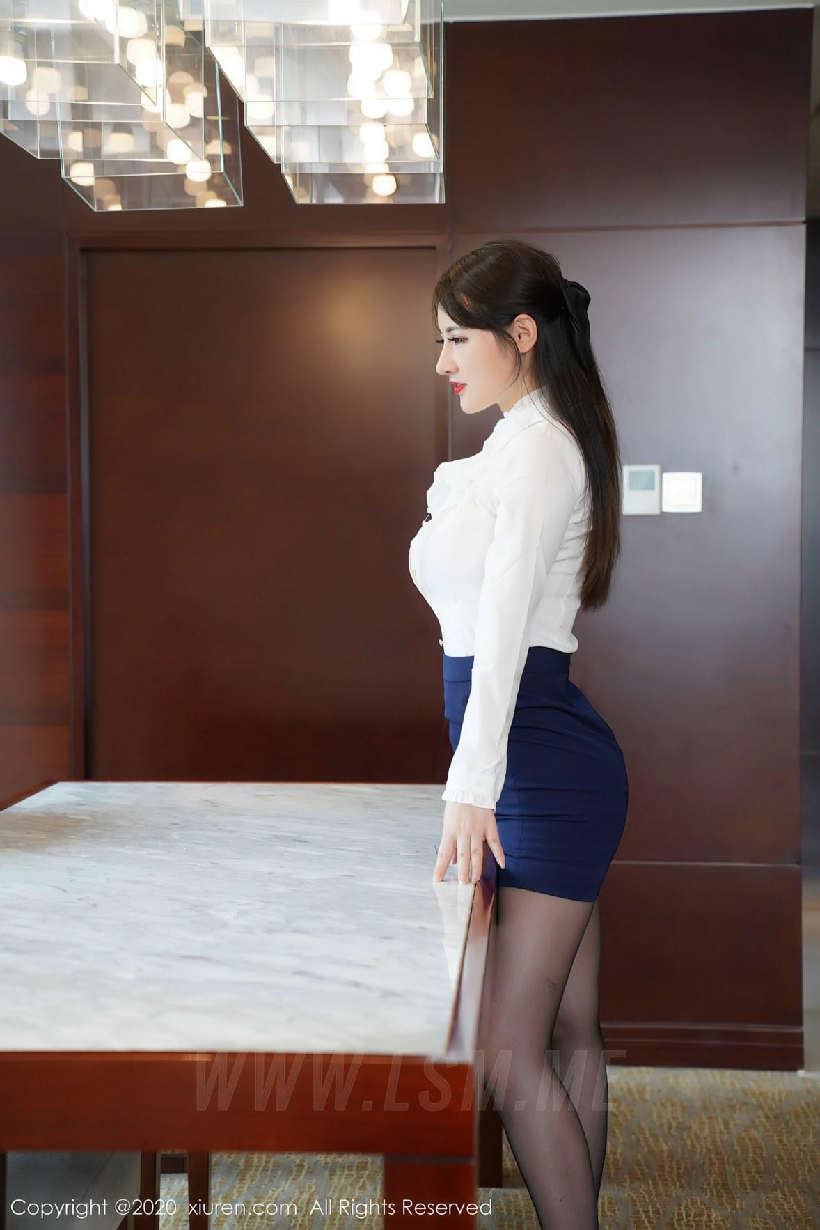 XiuRen 秀人 No.2437  都市丽人 诗诗kiki 性感ol写真 - 4
