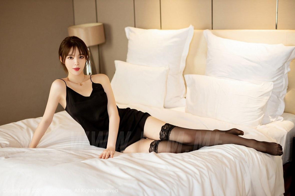 XiuRen 秀人 No.2483  黑色吊裙 yoo优优 气质美女 - 1