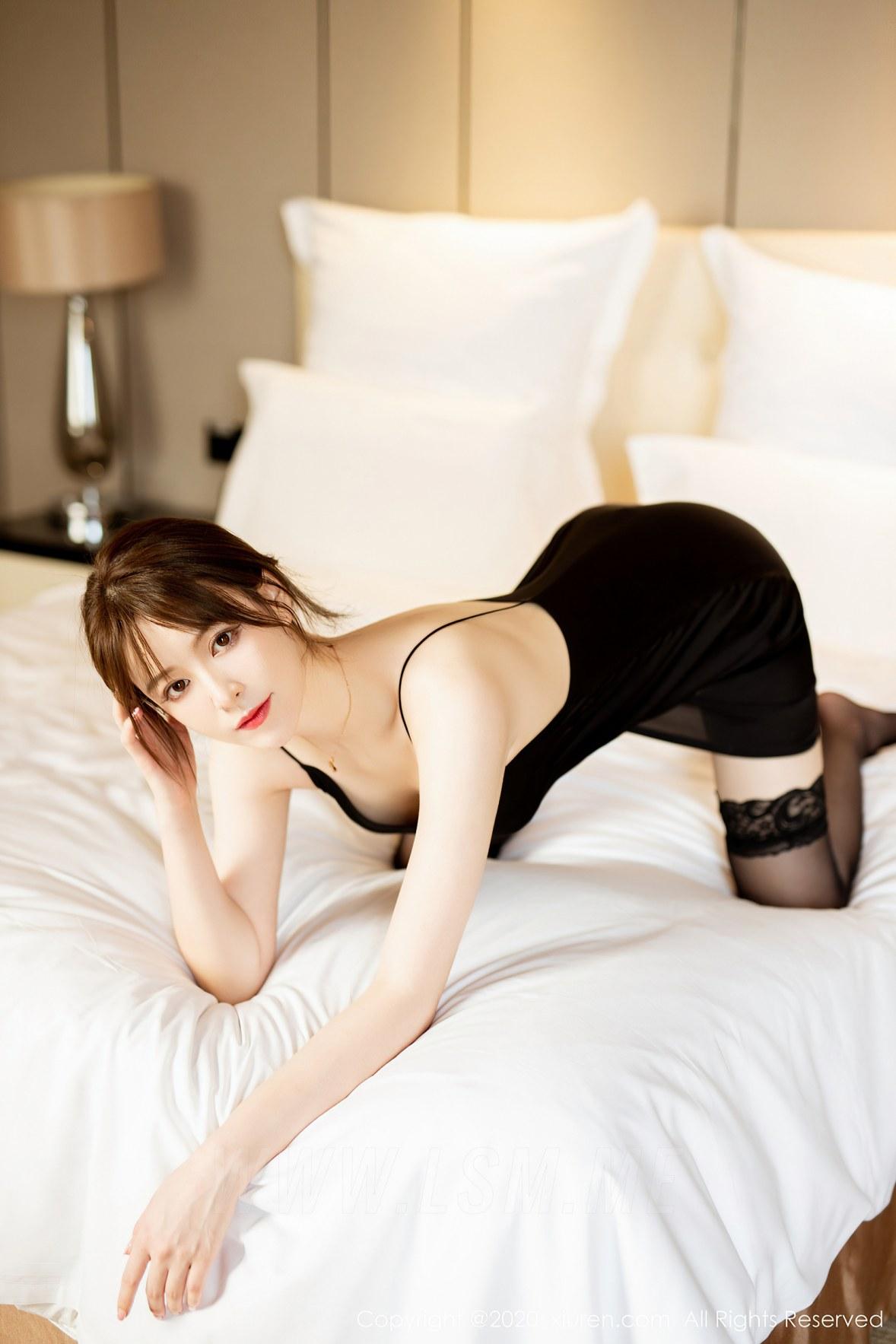 XiuRen 秀人 No.2483  黑色吊裙 yoo优优 气质美女 - 2