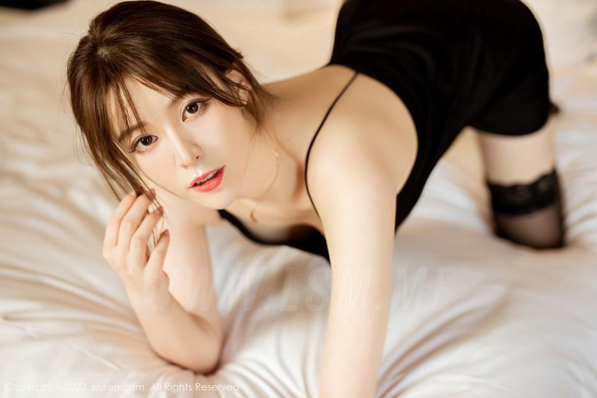 XiuRen 秀人 No.2483  黑色吊裙 yoo优优 气质美女 - 3