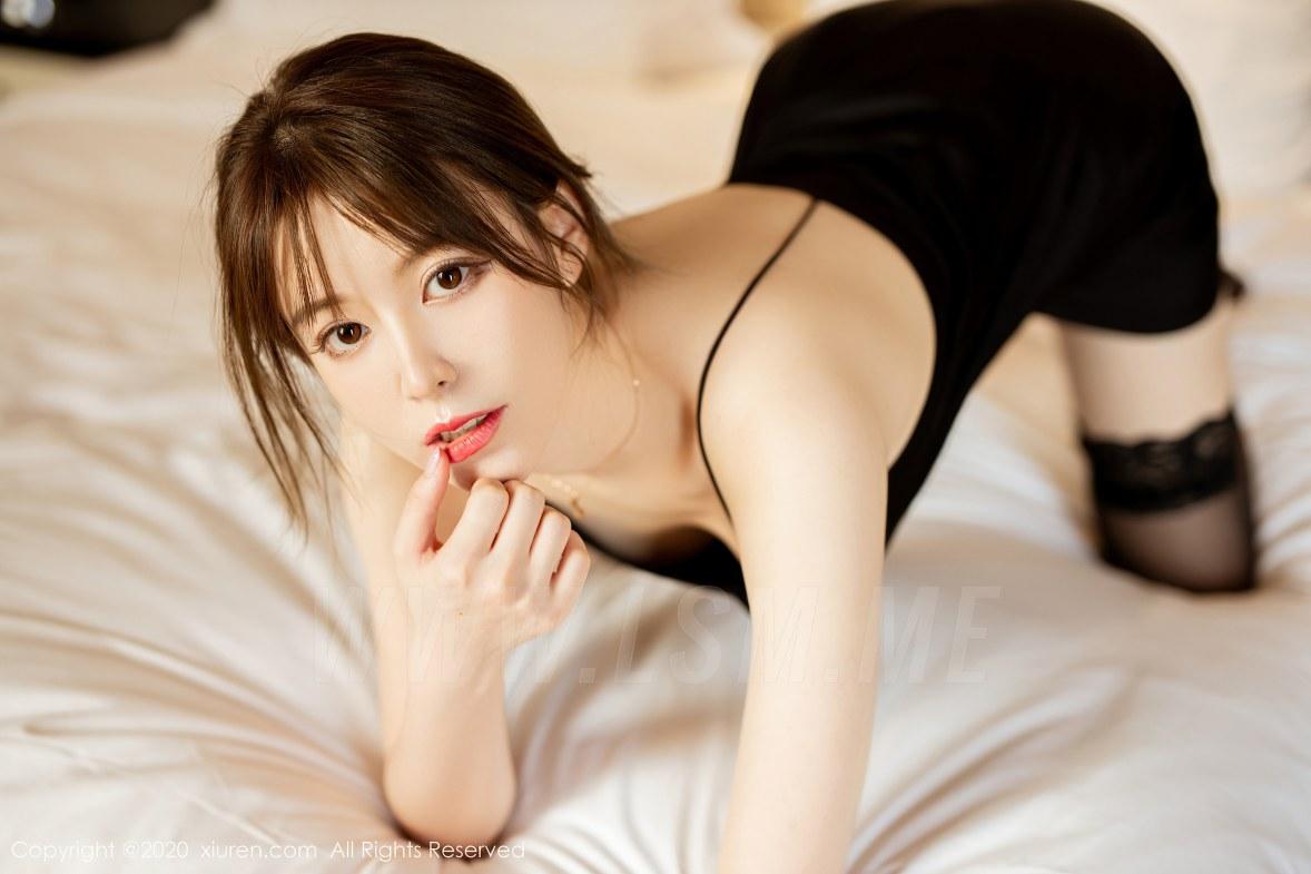 XiuRen 秀人 No.2483  黑色吊裙 yoo优优 气质美女 - 4