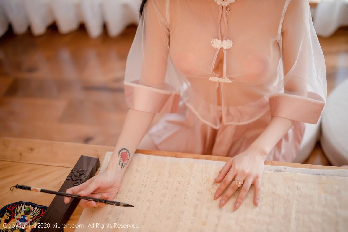 XiuRen 秀人 No.2510  透视中式粉服饰主题 玉兔miki - 3