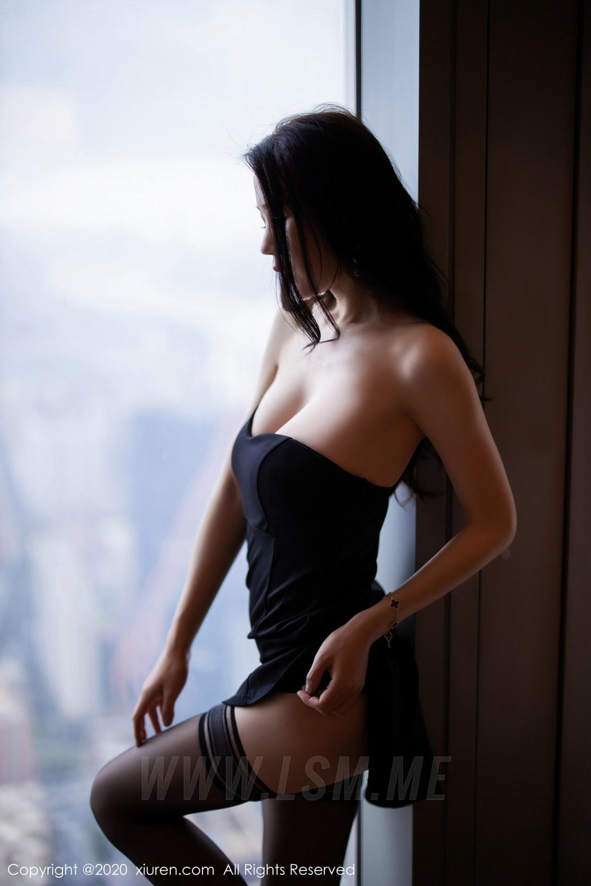 2535 017 a4n 3600 5400 - XiuRen 秀人 No.2535  黑丝魅惑抹胸 梦心月 - 秀人网 -【免费在线写真】【丽人丝语】