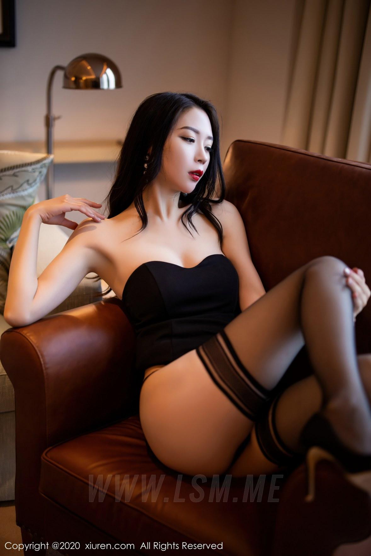 2535 045 j1a 3600 5400 - XiuRen 秀人 No.2535  黑丝魅惑抹胸 梦心月 - 秀人网 -【免费在线写真】【丽人丝语】