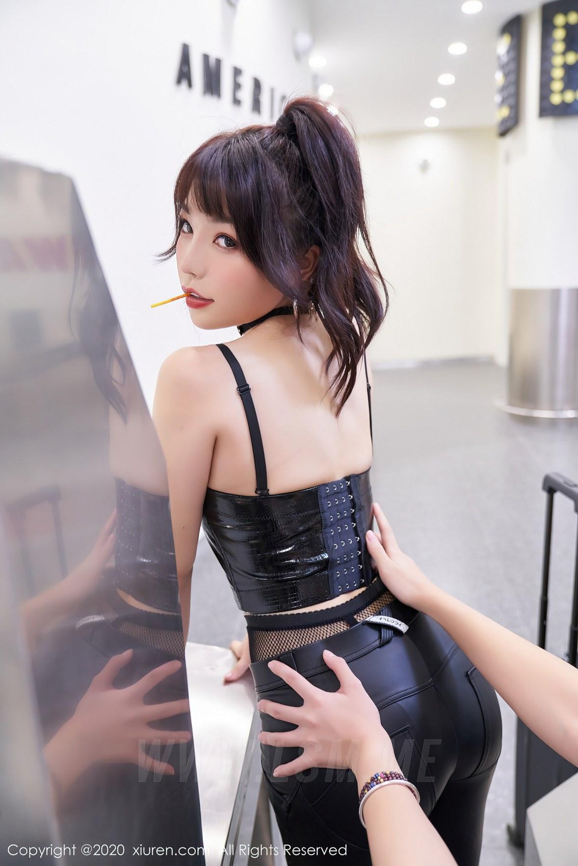 XiuRen 秀人 No.2921  不良少女狂野皮衣 芝芝 - 4