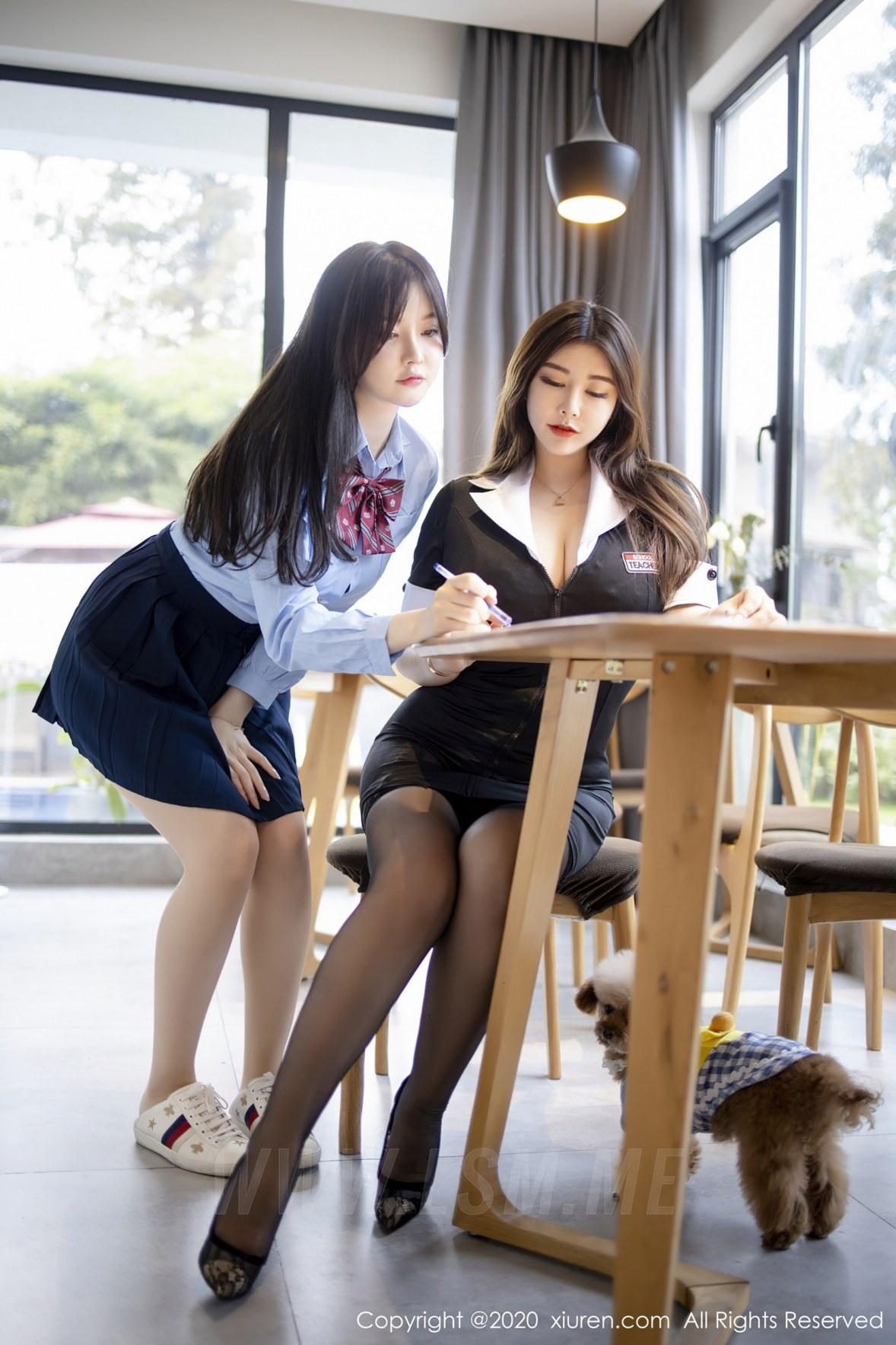XiuRen 秀人 No.2942  糯美子和软软子 师生情主题系列 - 1