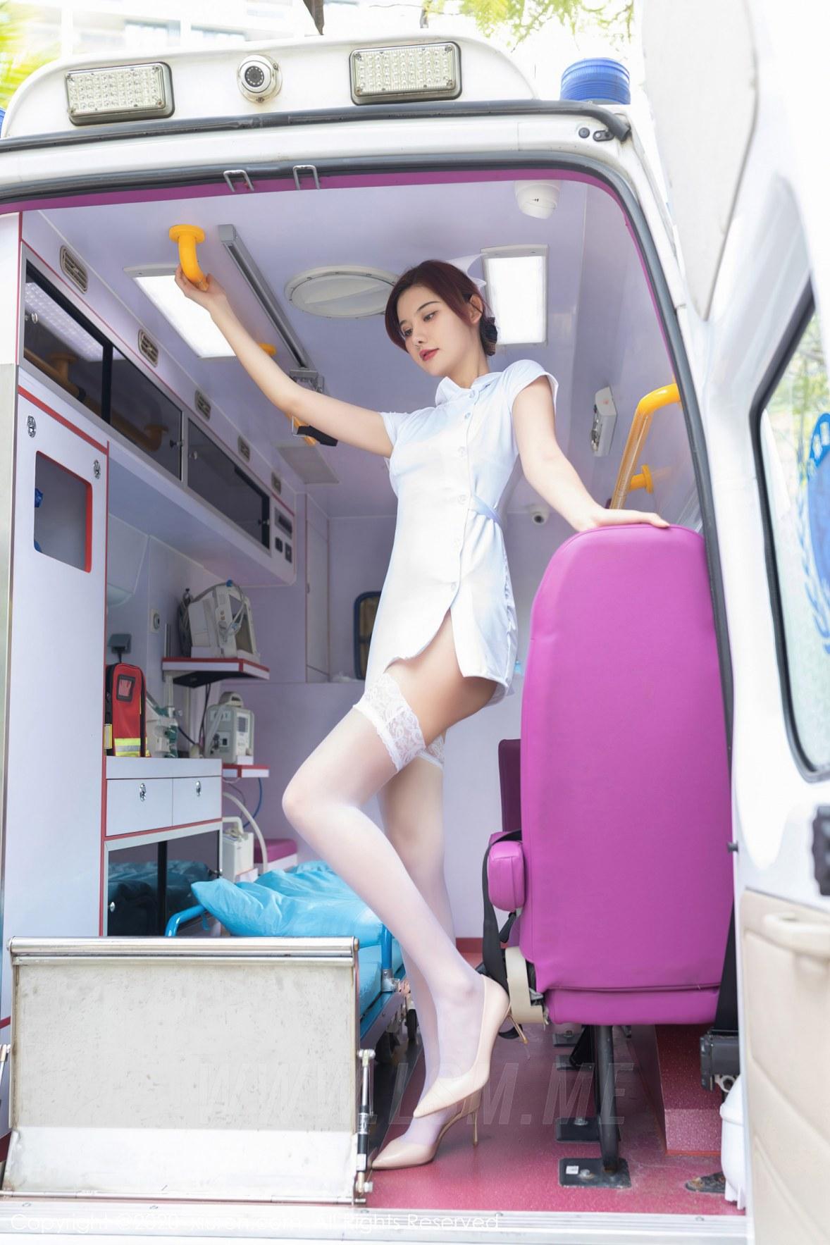 XiuRen 秀人 No.2959  救护车主题系列护士 就是阿朱啊 - 3