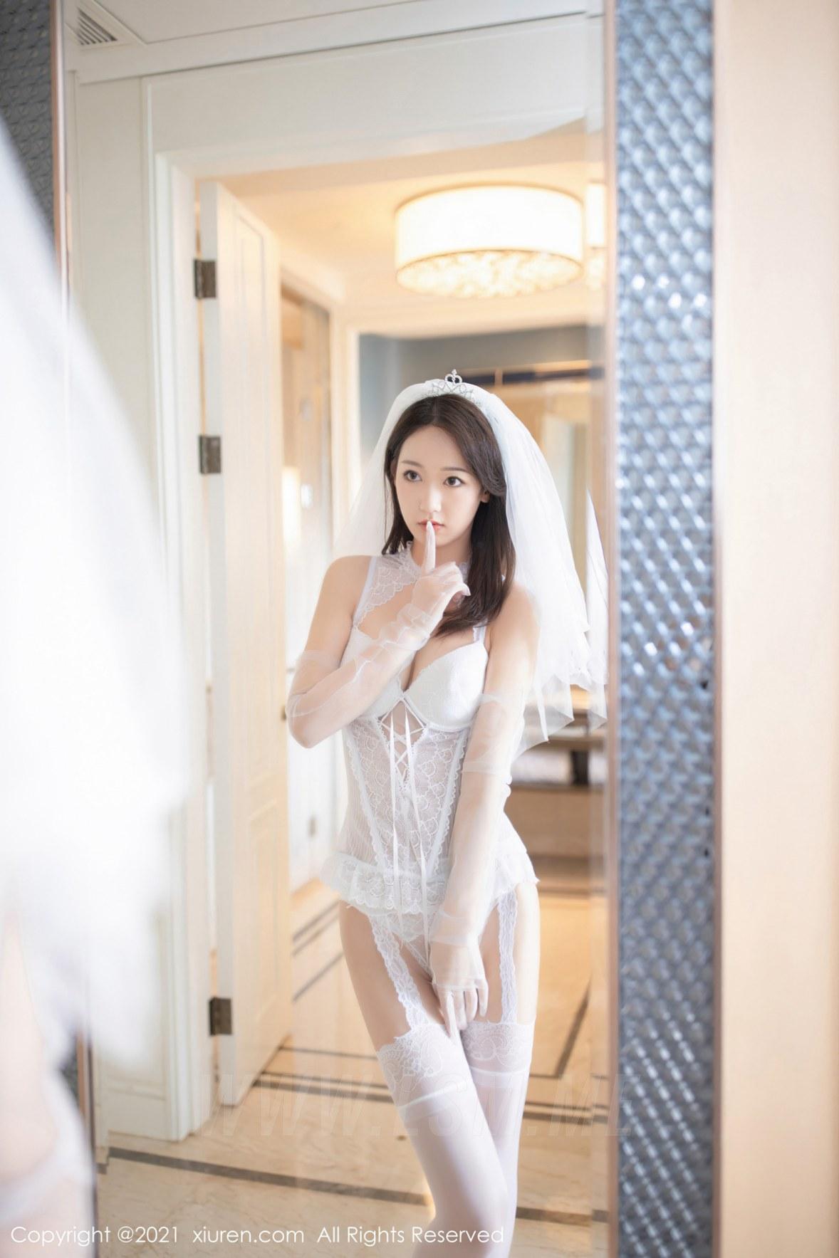 XiuRen 秀人 No.2968  唐安琪 白色婚纱主题 - 4