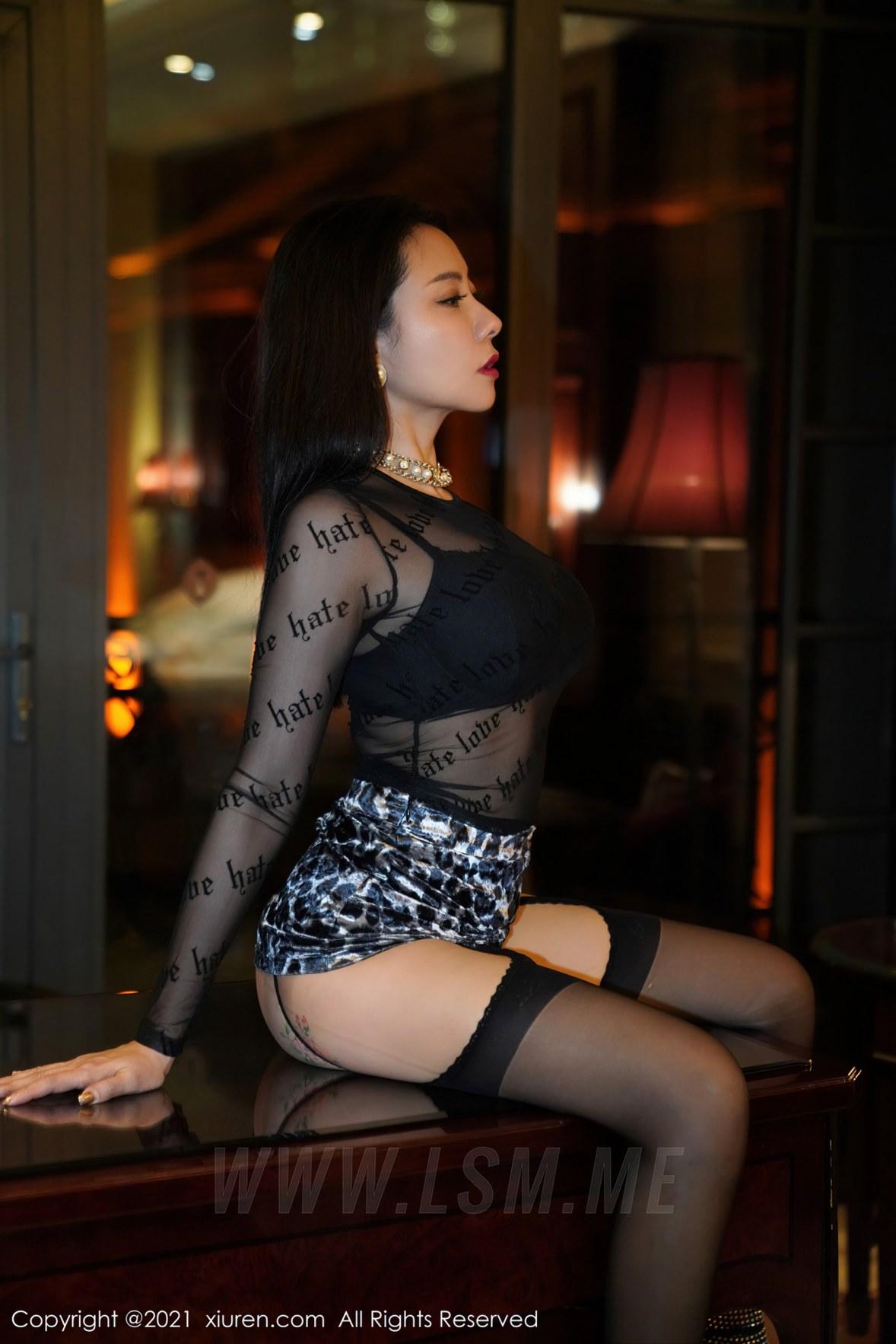 XiuRen 秀人 No.3067  魅惑黑丝 果儿 蕾丝御姐 - 3