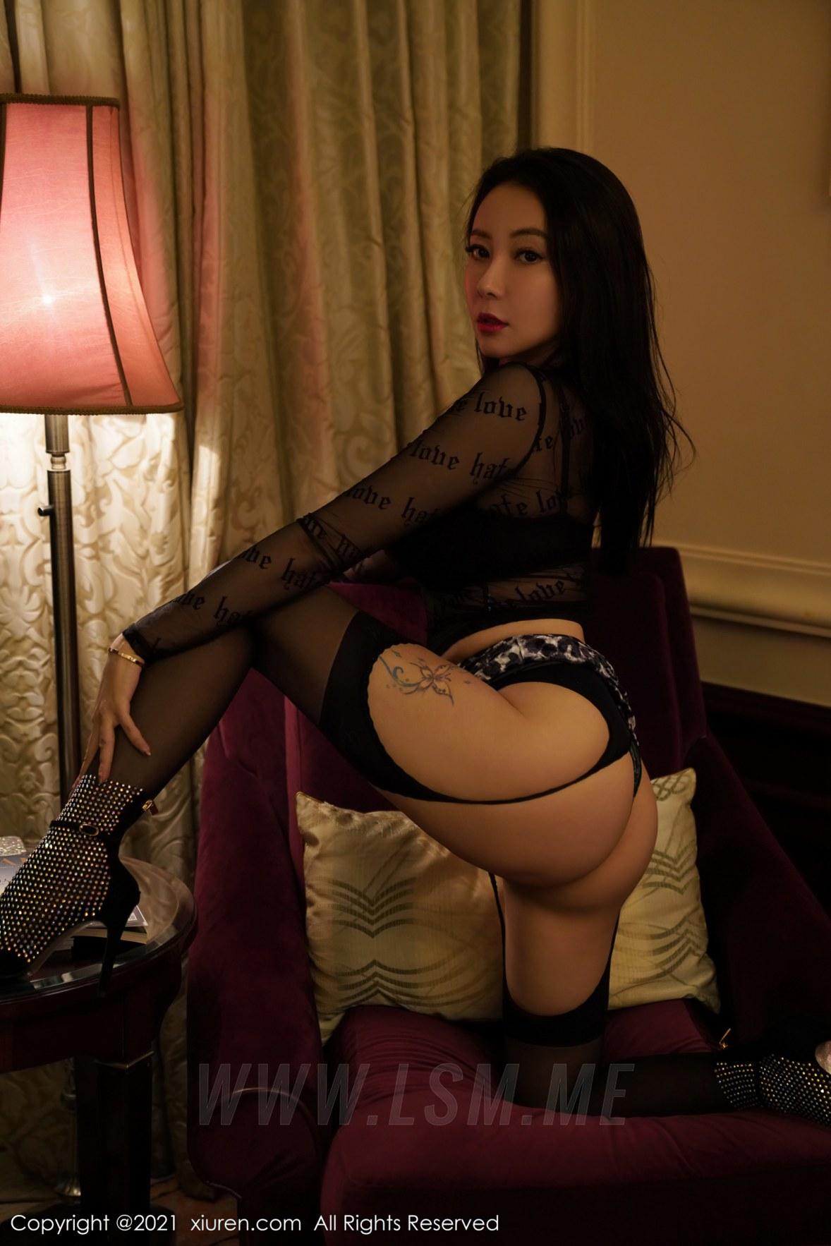 XiuRen 秀人 No.3067  魅惑黑丝 果儿 蕾丝御姐 - 4