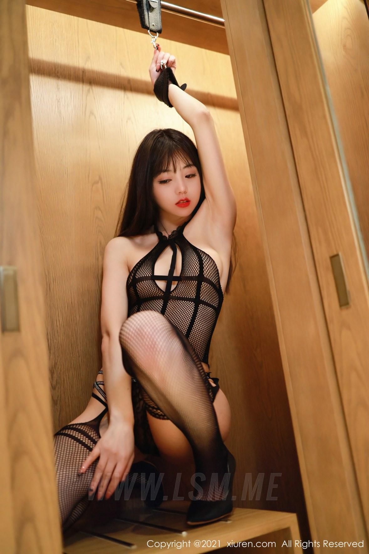 XiuRen 秀人 No.3093  束缚主题 佘贝拉 渔网连体衣 - 3