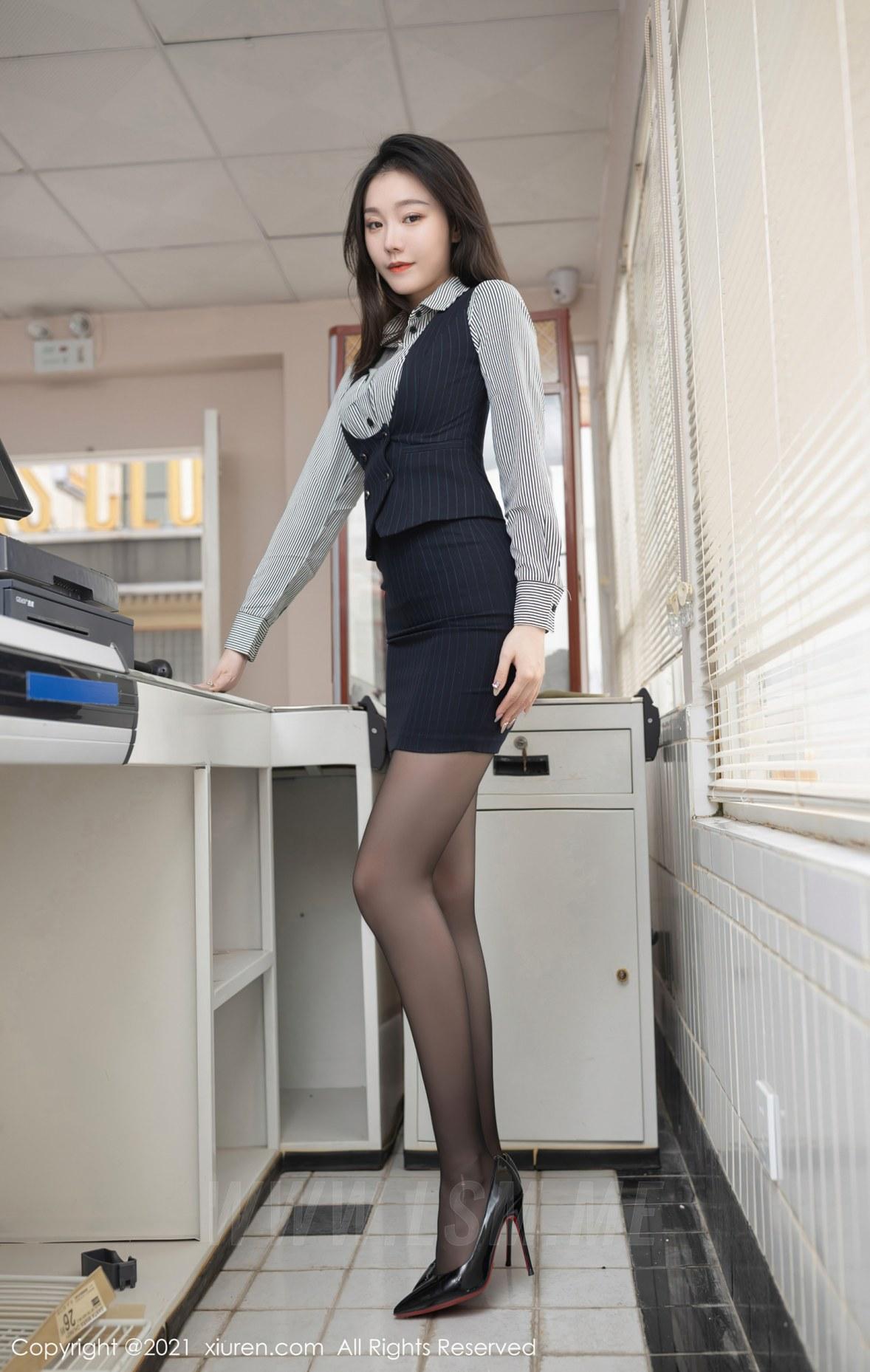 XiuRen 秀人 No.3123  安然 条纹衬衫职业装 - 4
