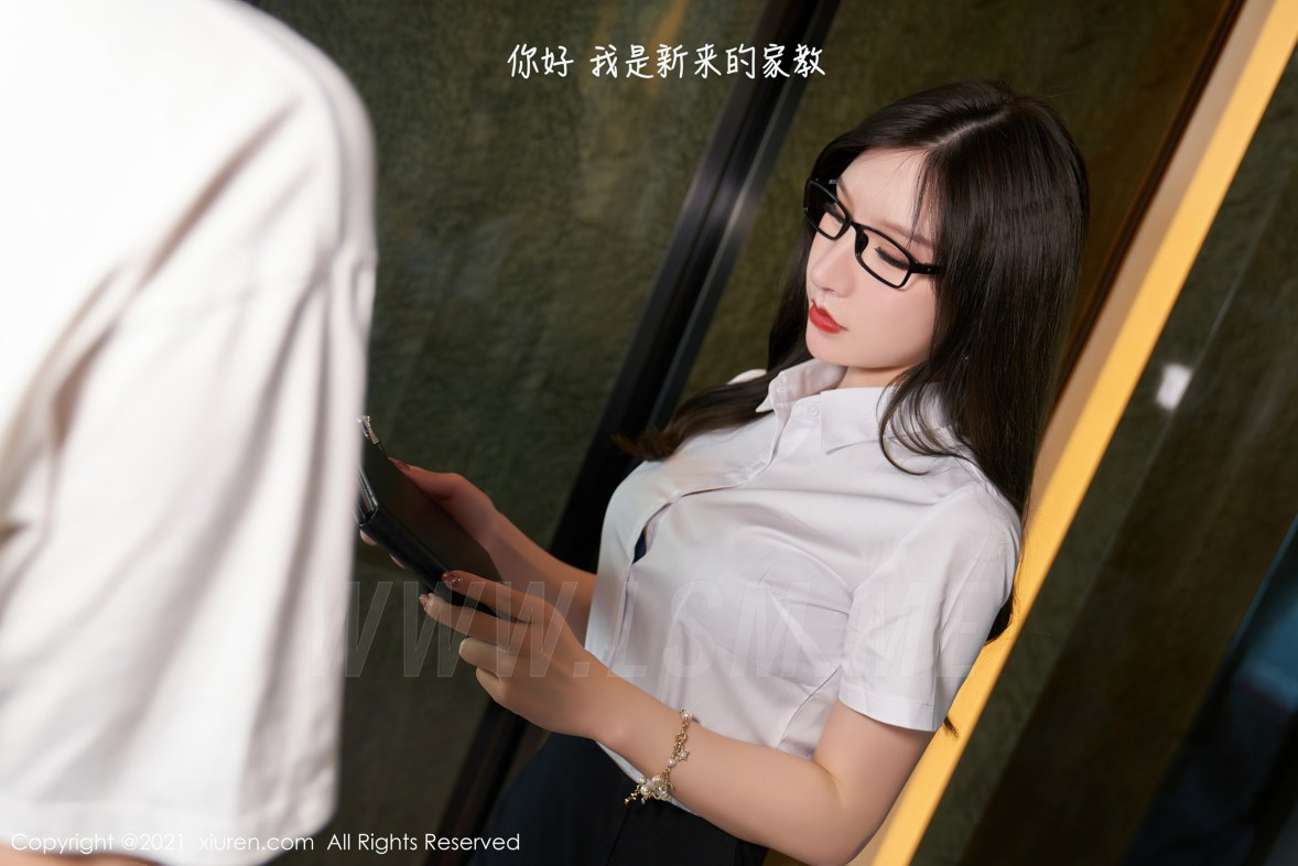 XiuRen 秀人 No.3455  家庭教师上门补习主题 周于希Sandy 杭州心愿旅拍写真 - 1
