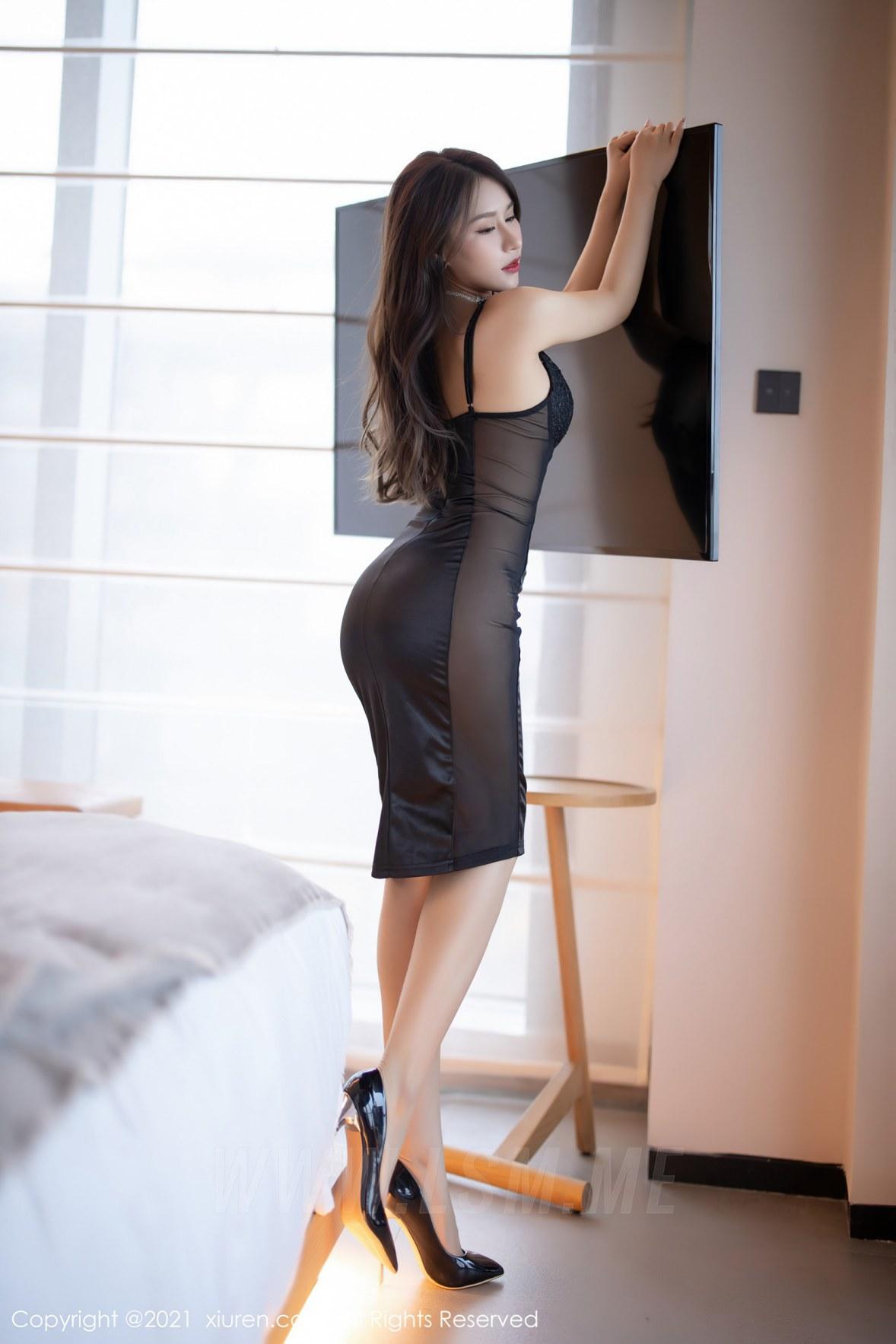 3465 005 wa7 3600 5400 - XiuRen 秀人 No.3465  黑色吊裙 徐安安 三亚旅拍写真 - 秀人网 -【免费在线写真】【丽人丝语】
