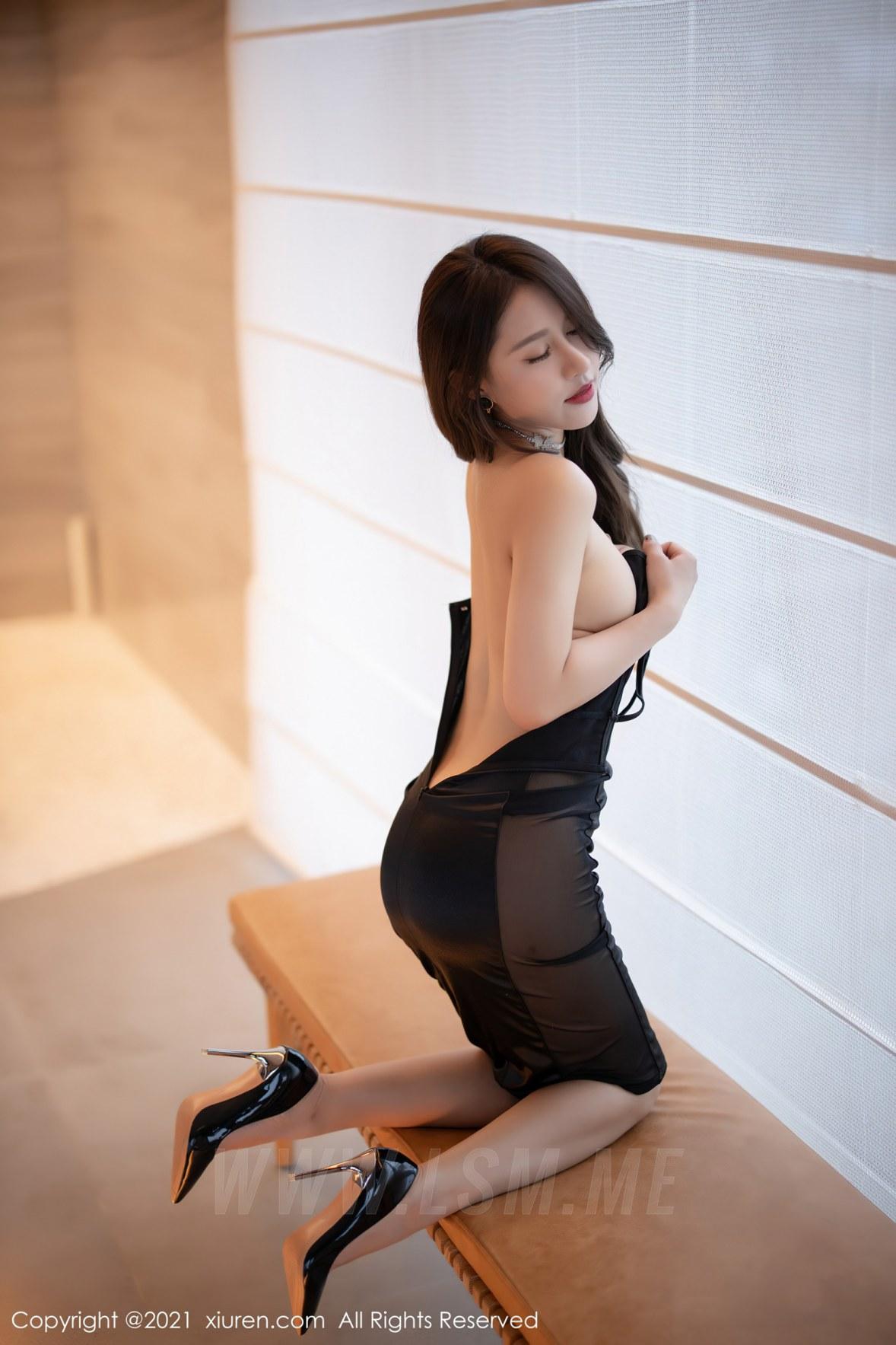 3465 024 9w7 3600 5400 - XiuRen 秀人 No.3465  黑色吊裙 徐安安 三亚旅拍写真 - 秀人网 -【免费在线写真】【丽人丝语】