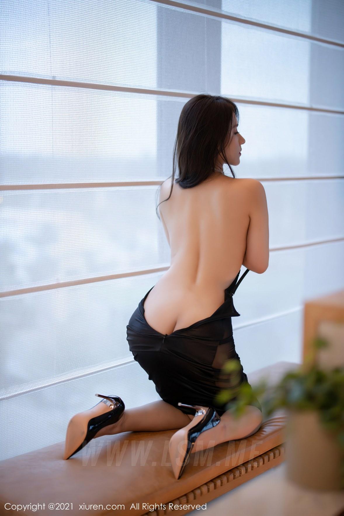 3465 036 evz 3600 5400 - XiuRen 秀人 No.3465  黑色吊裙 徐安安 三亚旅拍写真 - 秀人网 -【免费在线写真】【丽人丝语】