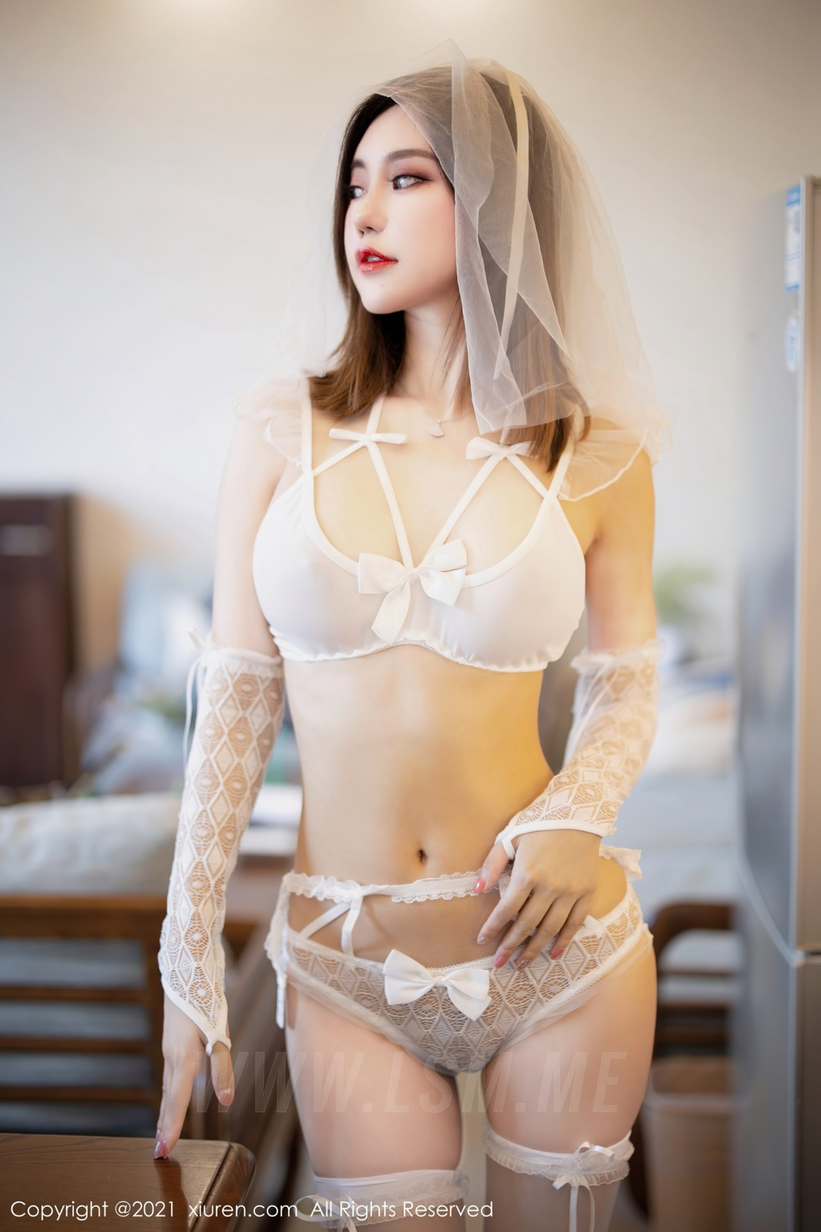 XiuRen 秀人 No.3494  婚纱系列 绮里嘉Carina 复出心愿旅拍写 - 1