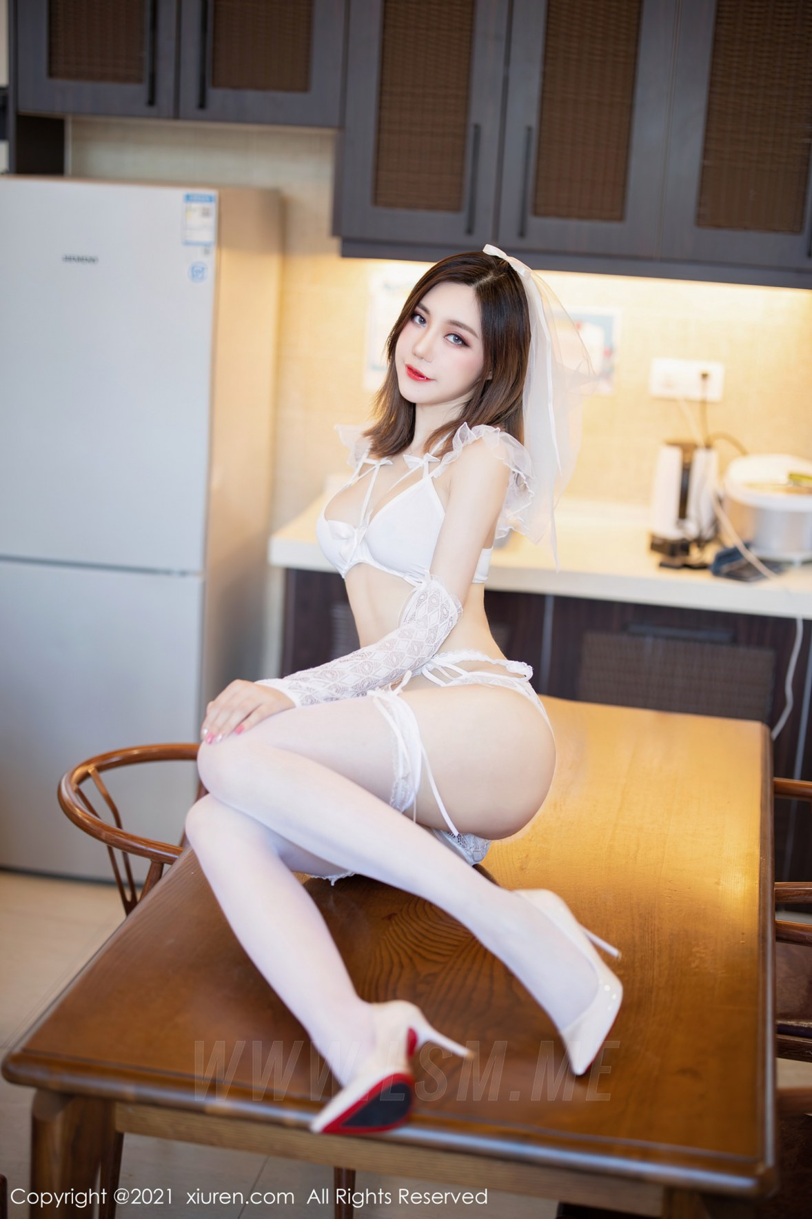 XiuRen 秀人 No.3494  婚纱系列 绮里嘉Carina 复出心愿旅拍写 - 2