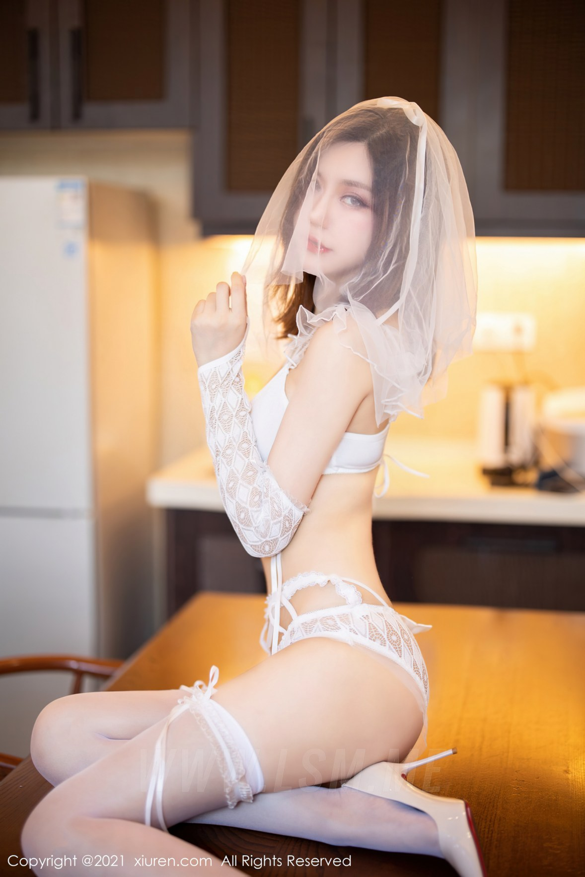 XiuRen 秀人 No.3494  婚纱系列 绮里嘉Carina 复出心愿旅拍写 - 3