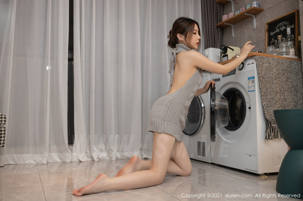 3620 030 g1r 5400 3600 - XiuRen 秀人 No.3620 洗衣机维修主题 鱼子酱Fish 性感写真111 - 秀人网 -【免费在线写真】【丽人丝语】