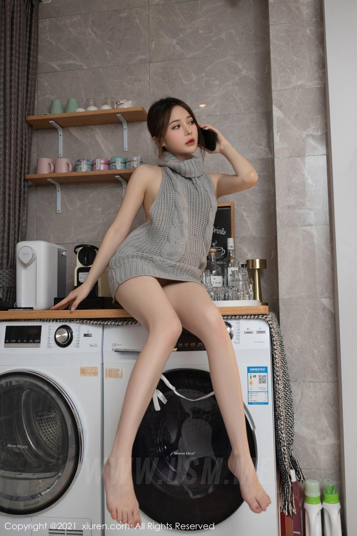 3620 040 4ig 3600 5400 - XiuRen 秀人 No.3620 洗衣机维修主题 鱼子酱Fish 性感写真111 - 秀人网 -【免费在线写真】【丽人丝语】