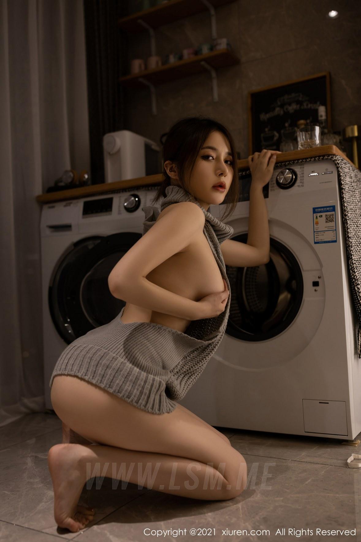 3620 079 40c 3600 5400 - XiuRen 秀人 No.3620 洗衣机维修主题 鱼子酱Fish 性感写真111 - 秀人网 -【免费在线写真】【丽人丝语】